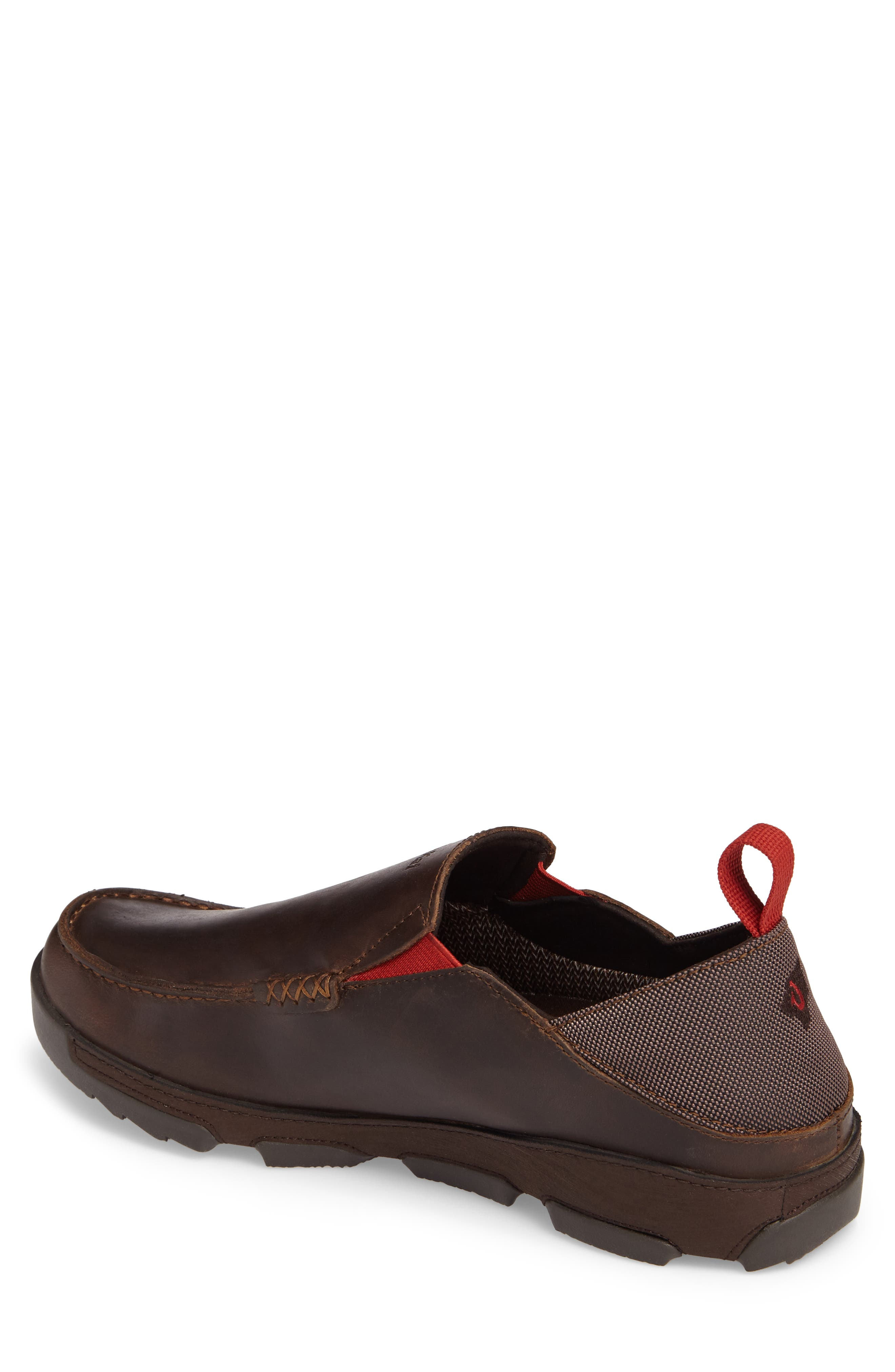 Na'I Collapsible Waterproof Slip-On,                             Alternate thumbnail 2, color,                             CAROB/ DARK WOOD LEATHER