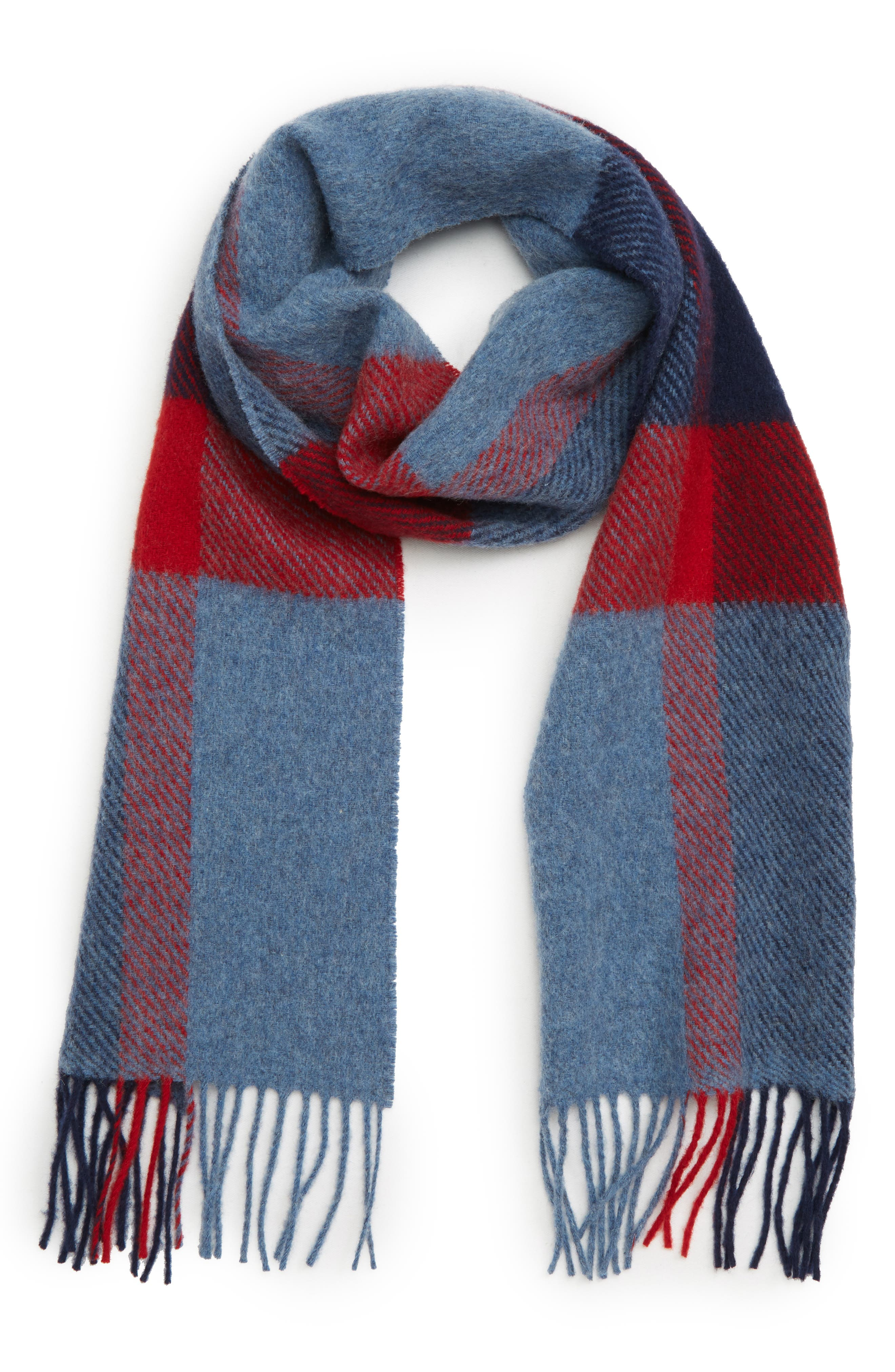 BARBOUR Oakwell Wool Scarf, Main, color, 400
