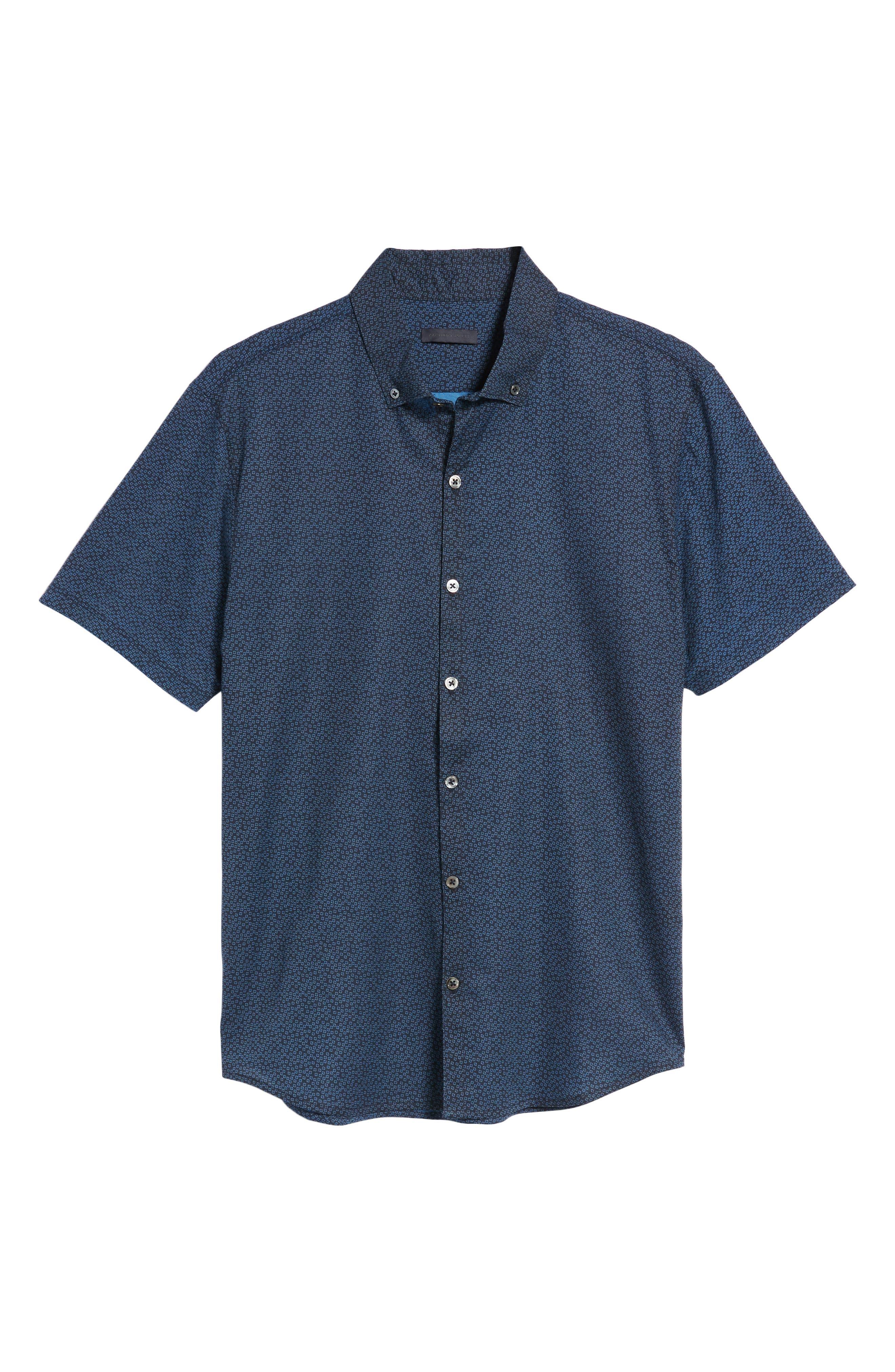 Clyde Slim Fit Sport Shirt,                             Alternate thumbnail 6, color,                             410