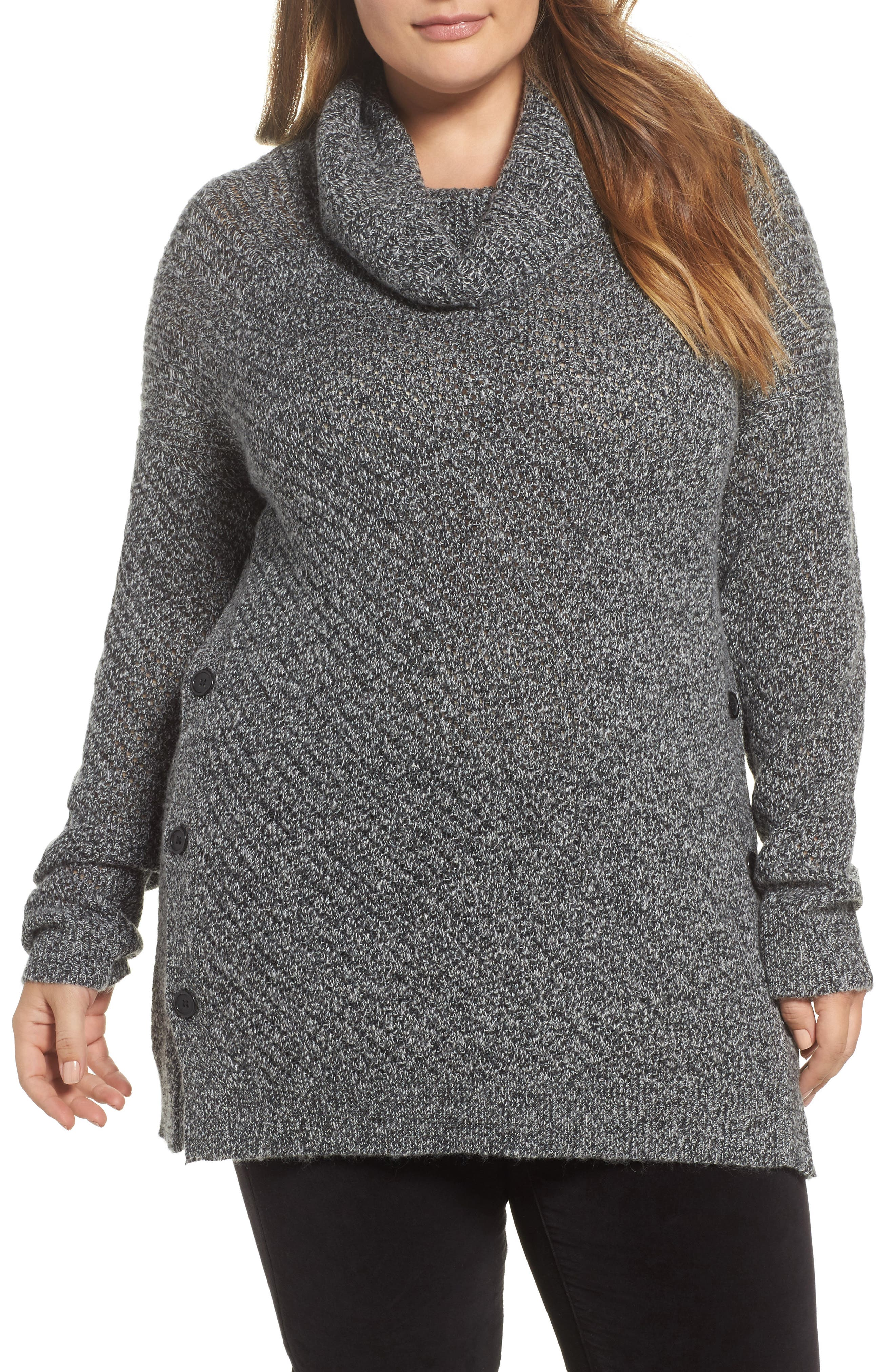Button Side Sweater,                             Main thumbnail 1, color,                             009