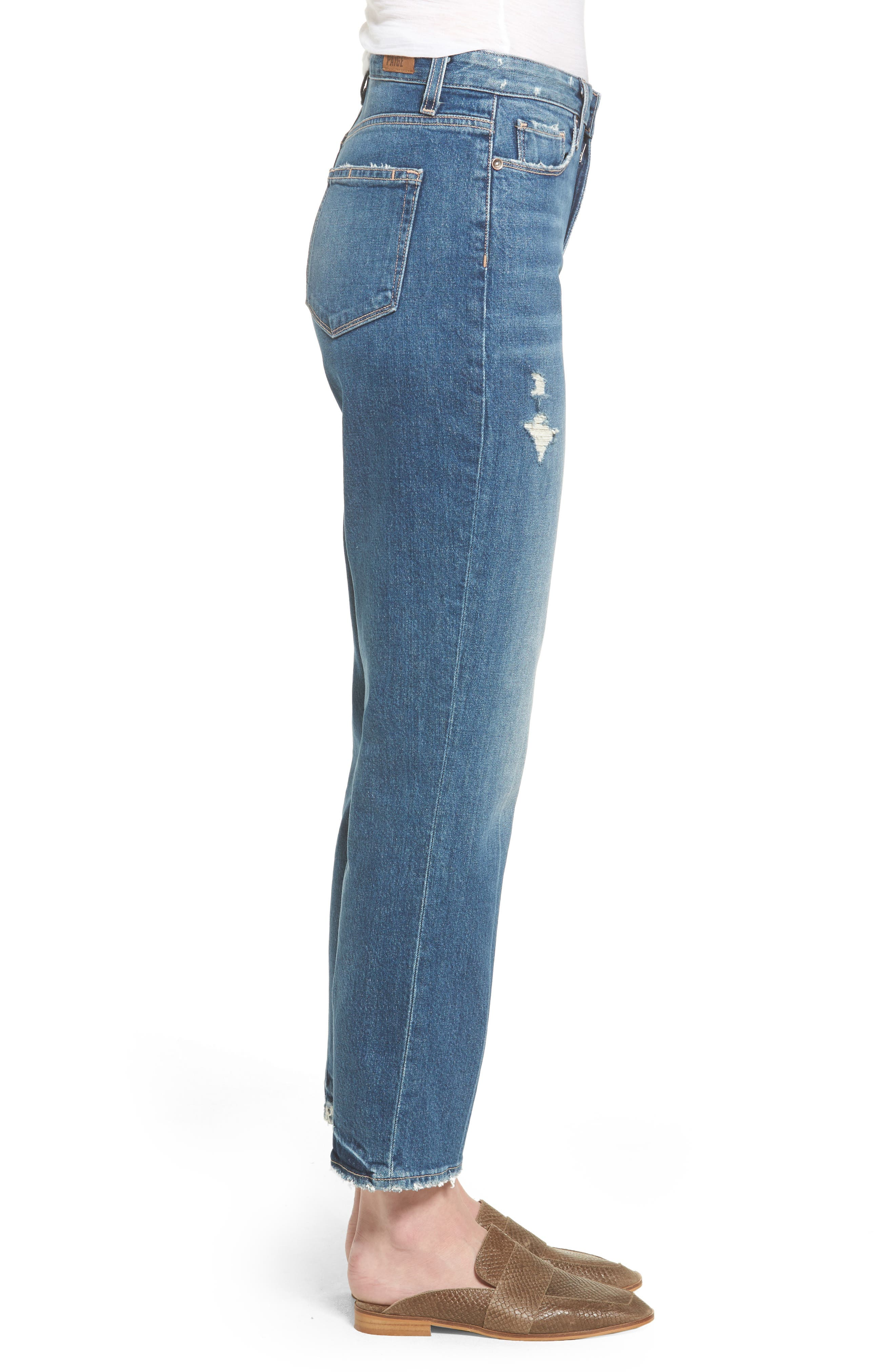 Vintage - Sarah High Waist Crop Straight Leg Jeans,                             Alternate thumbnail 3, color,                             400