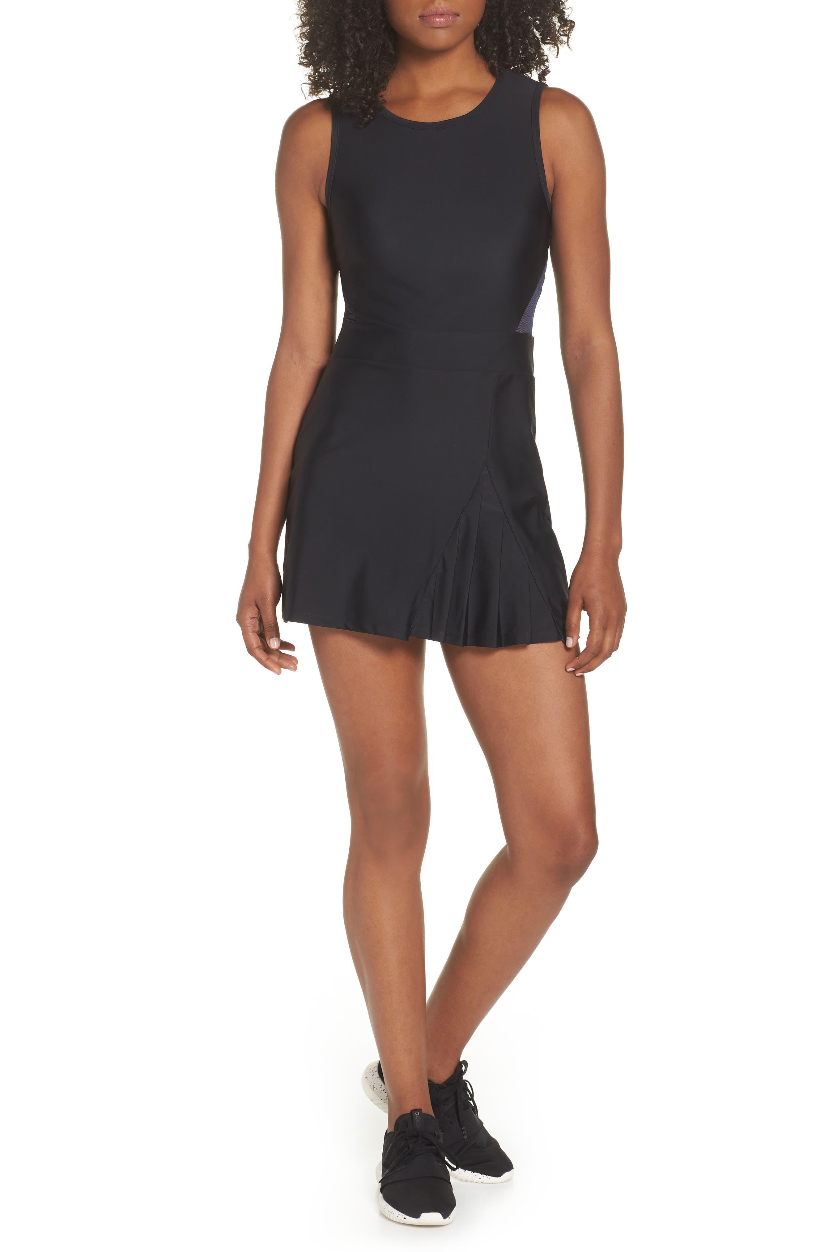 BoomBoom Athletica Tennis Dress,                             Main thumbnail 1, color,                             BLACK/ NAVY