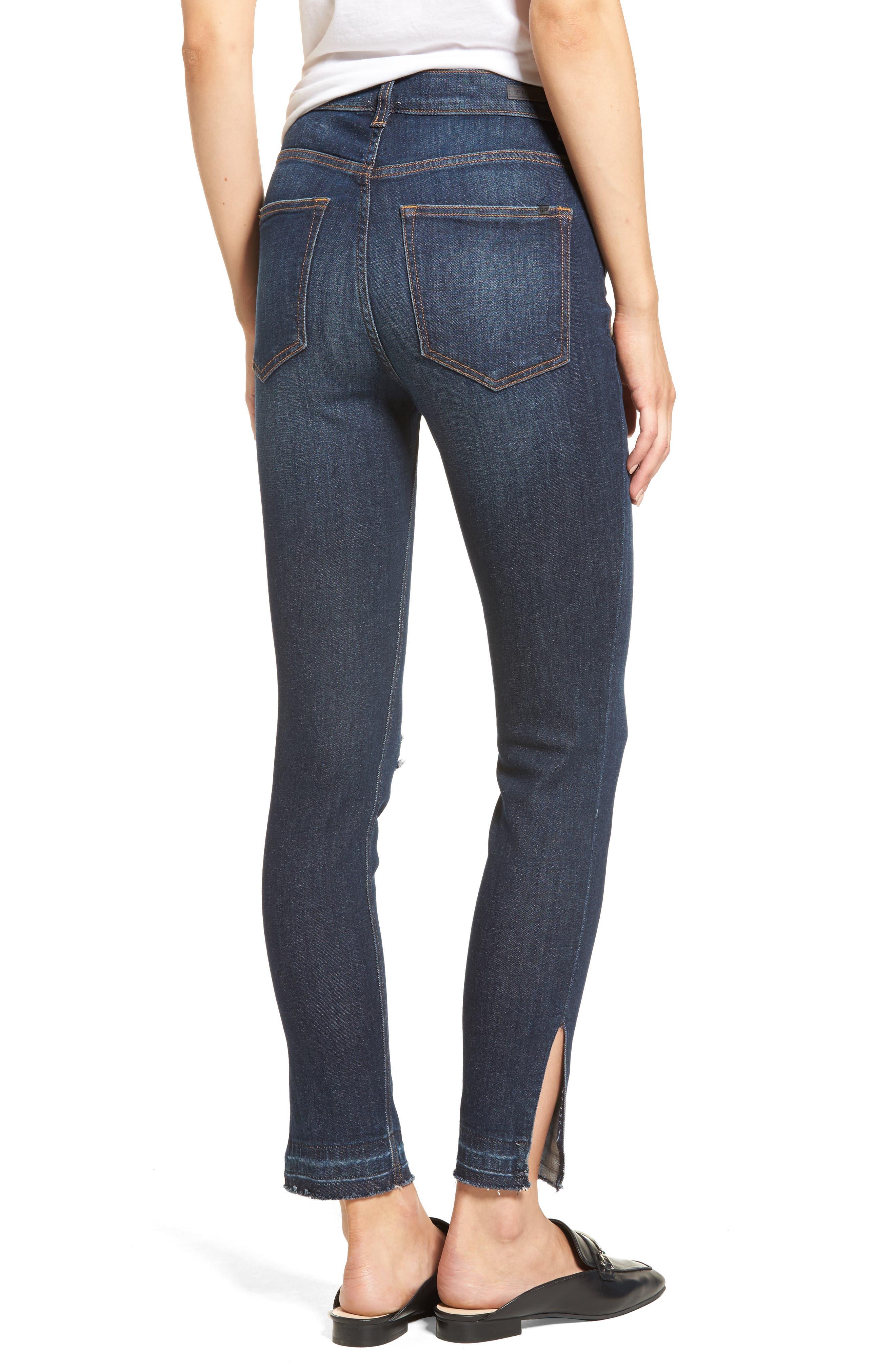 Split Hem Skinny Jeans,                             Alternate thumbnail 2, color,                             401