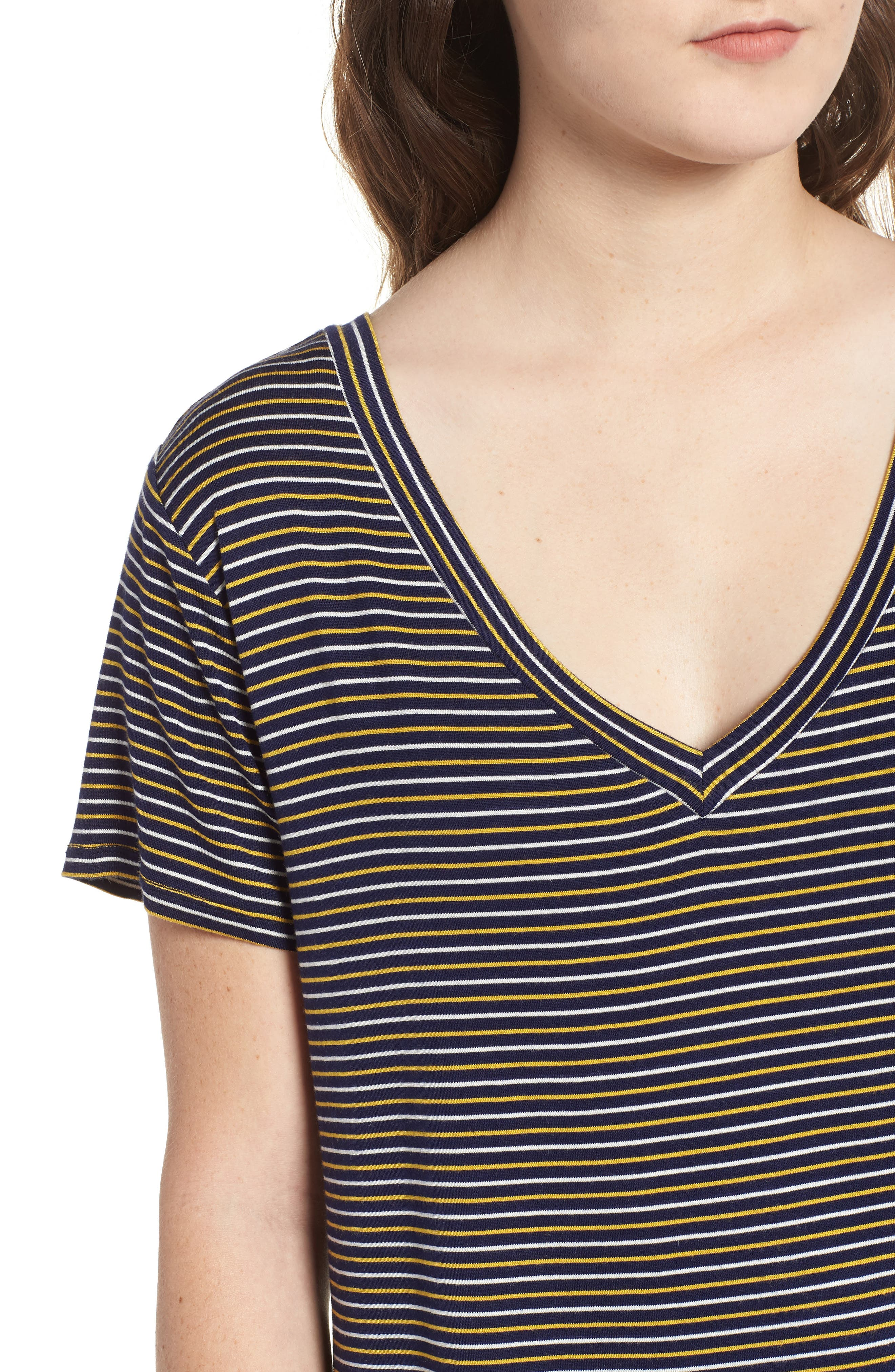 Stripe Surplice Back Tee,                             Alternate thumbnail 4, color,                             400
