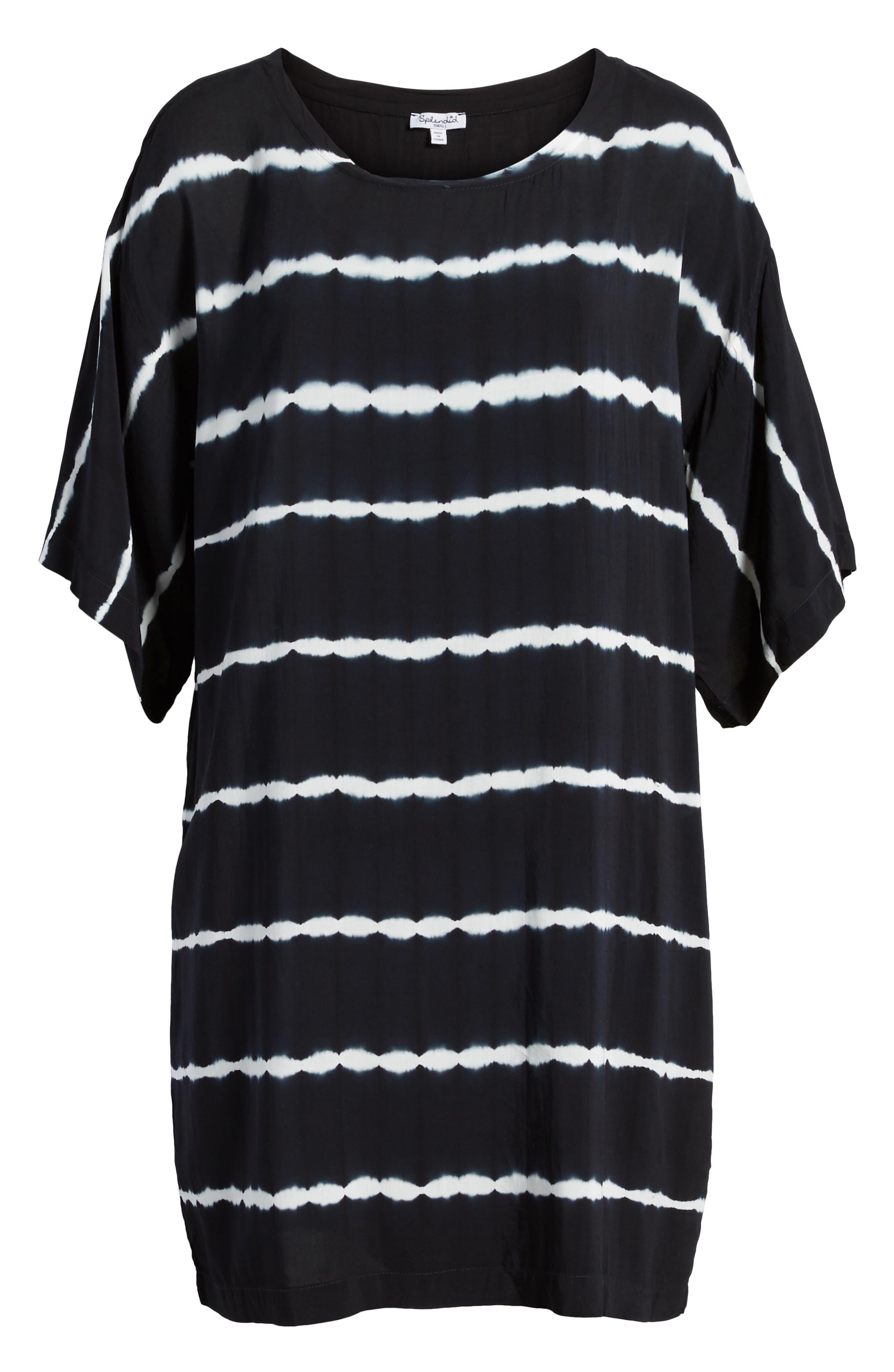 Tie Dye Stripe T-Shirt Dress,                             Alternate thumbnail 6, color,