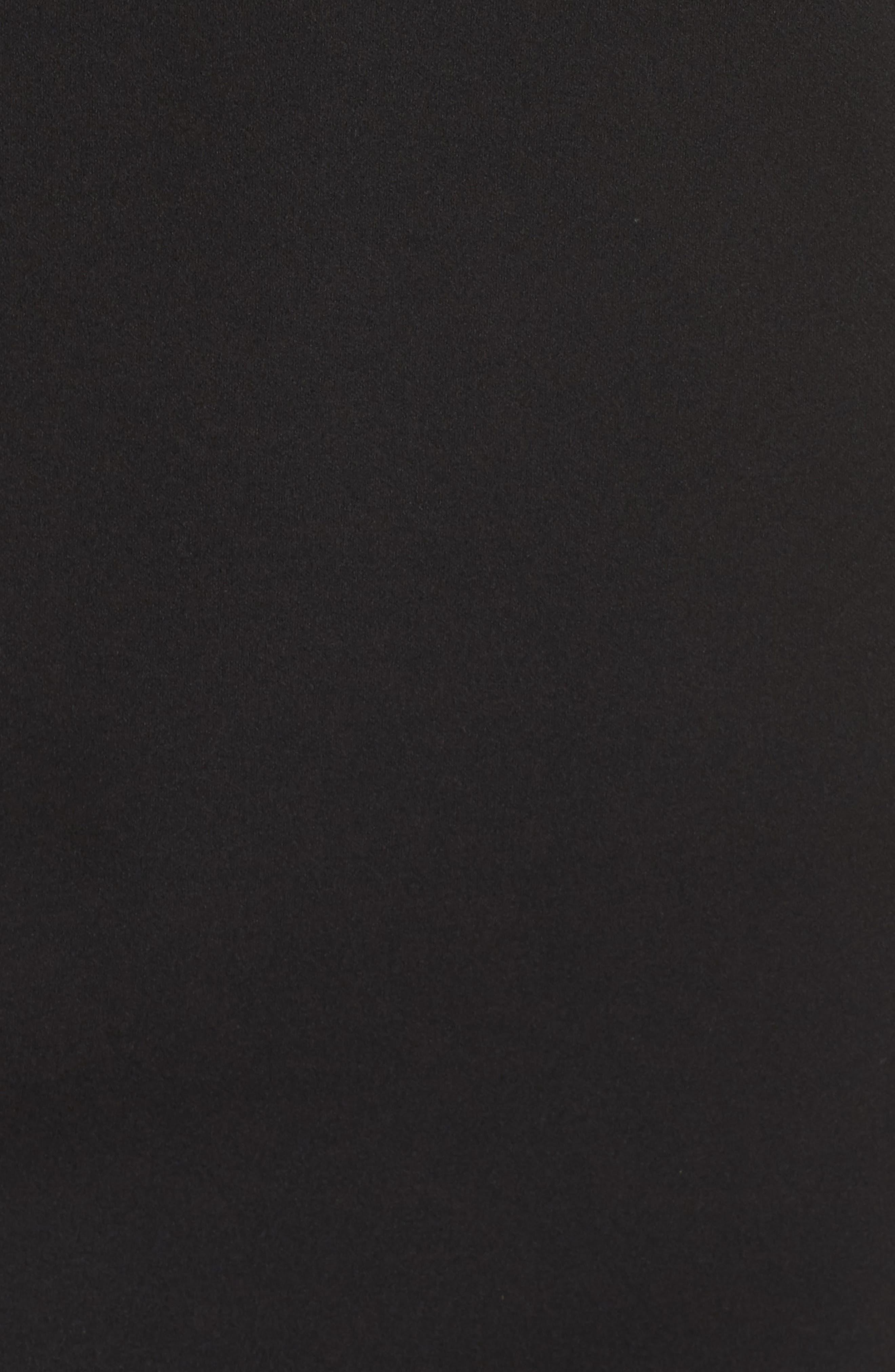 Off the Shoulder Sheath Dress,                             Alternate thumbnail 6, color,                             BLACK