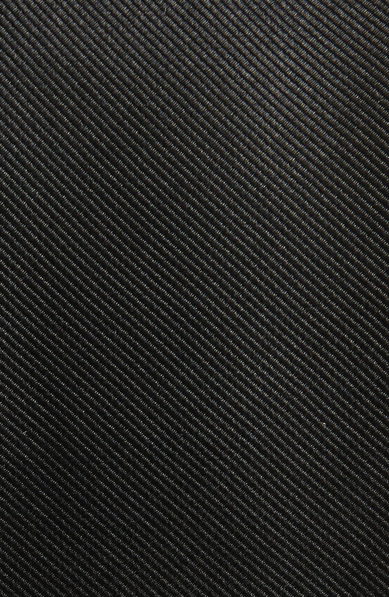 THE TIE BAR,                             Solid Silk Tie,                             Alternate thumbnail 2, color,                             BLACK