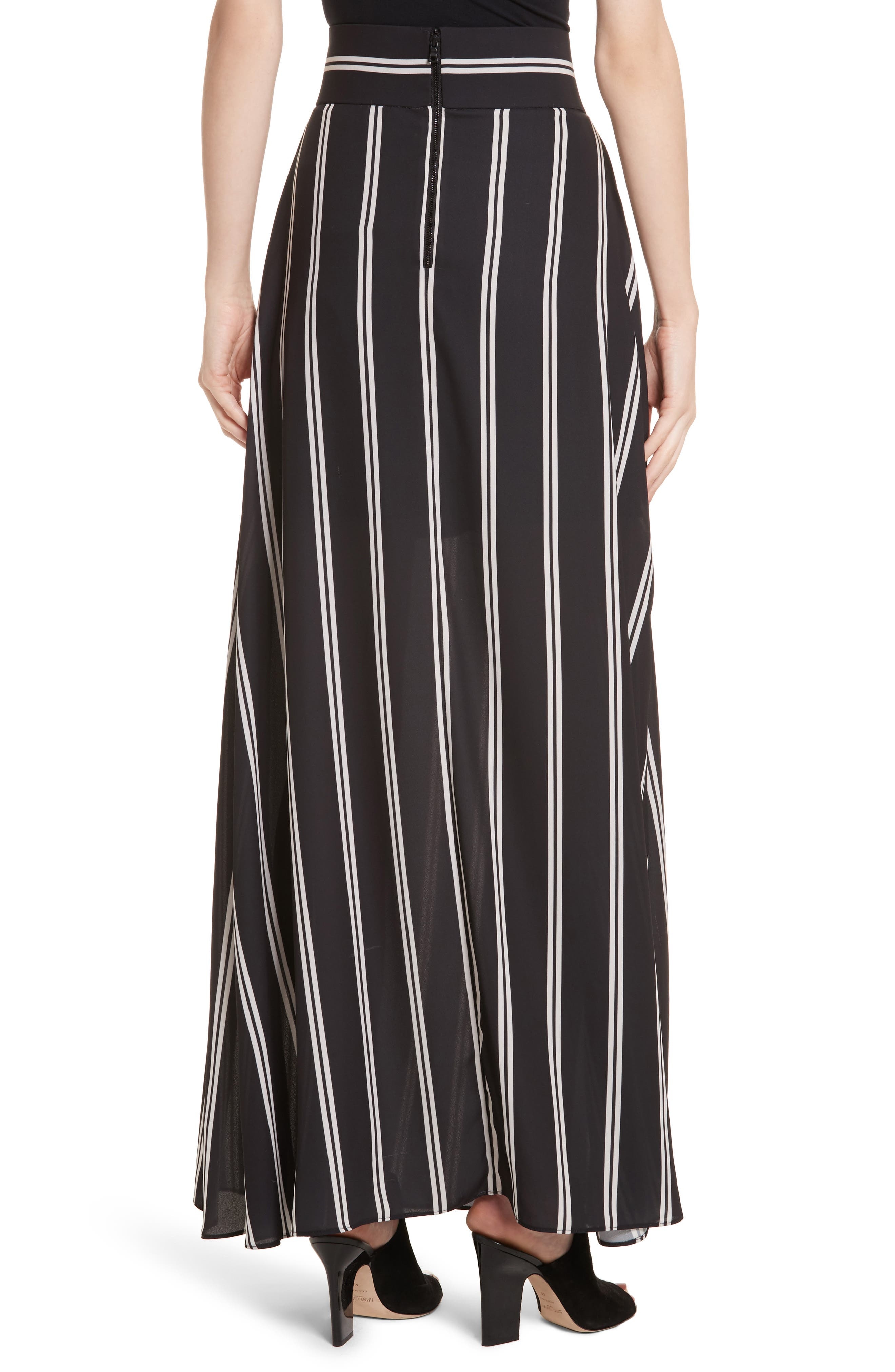 Gabel Clean Pleat Maxi Skirt,                             Alternate thumbnail 2, color,                             002