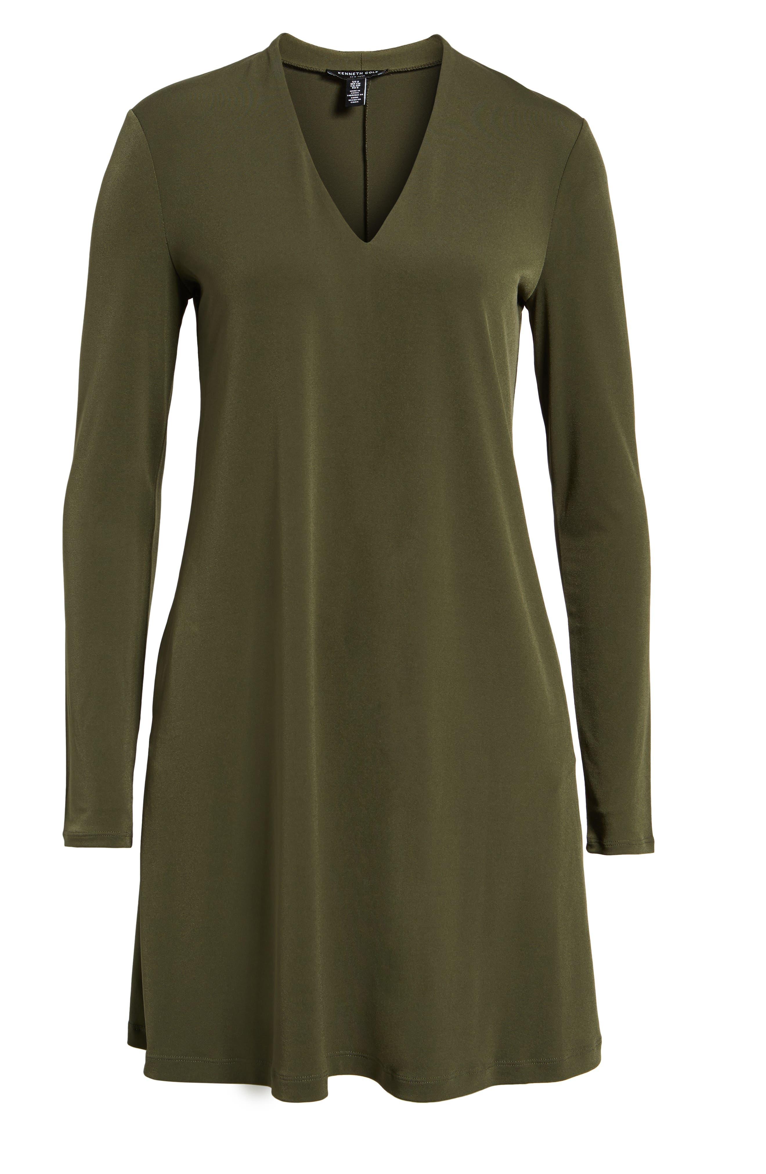 V-Neck A-Line Dress,                             Alternate thumbnail 17, color,
