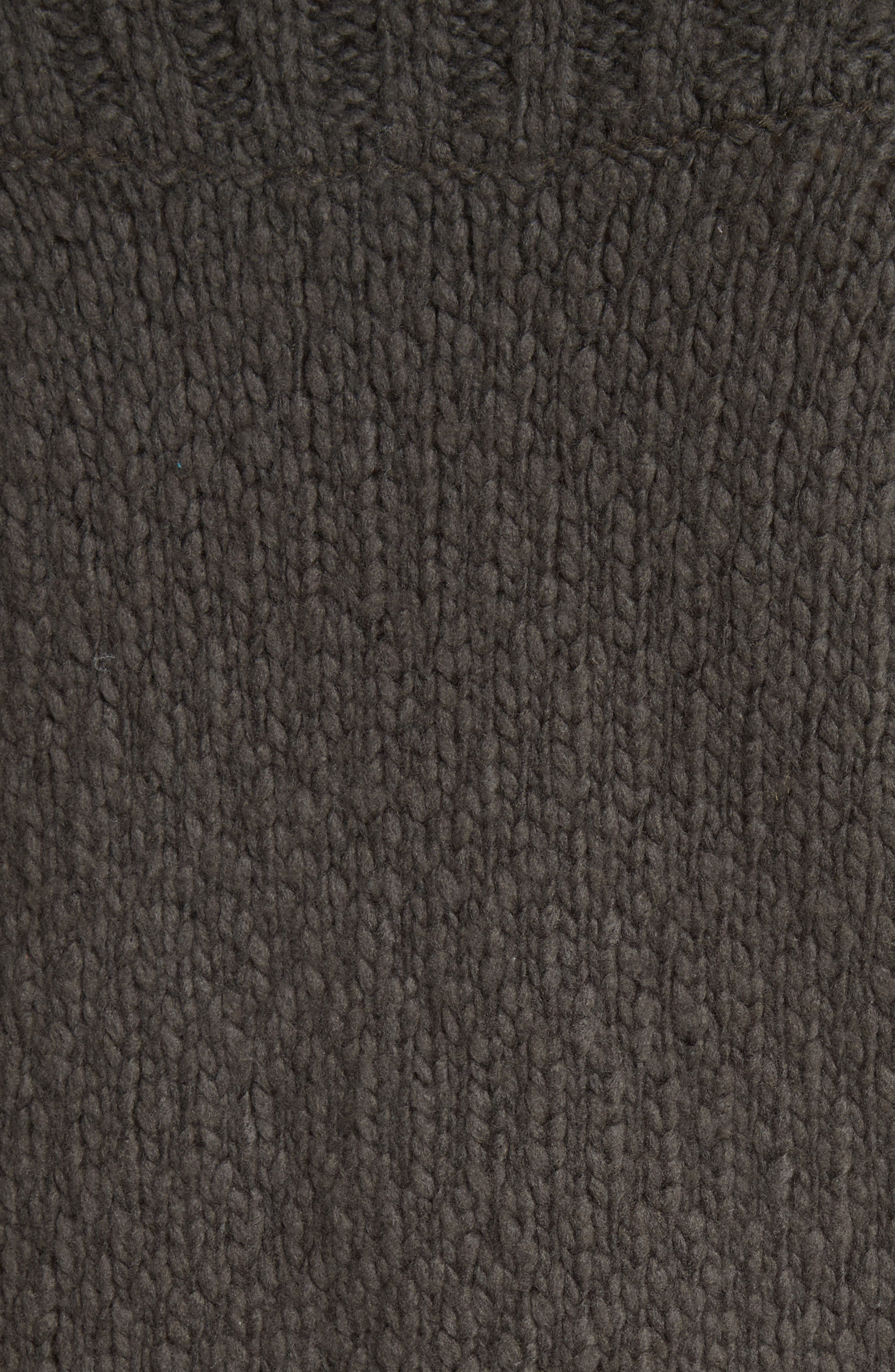 Ribbed Yoke Knit Sweater,                             Alternate thumbnail 5, color,                             082