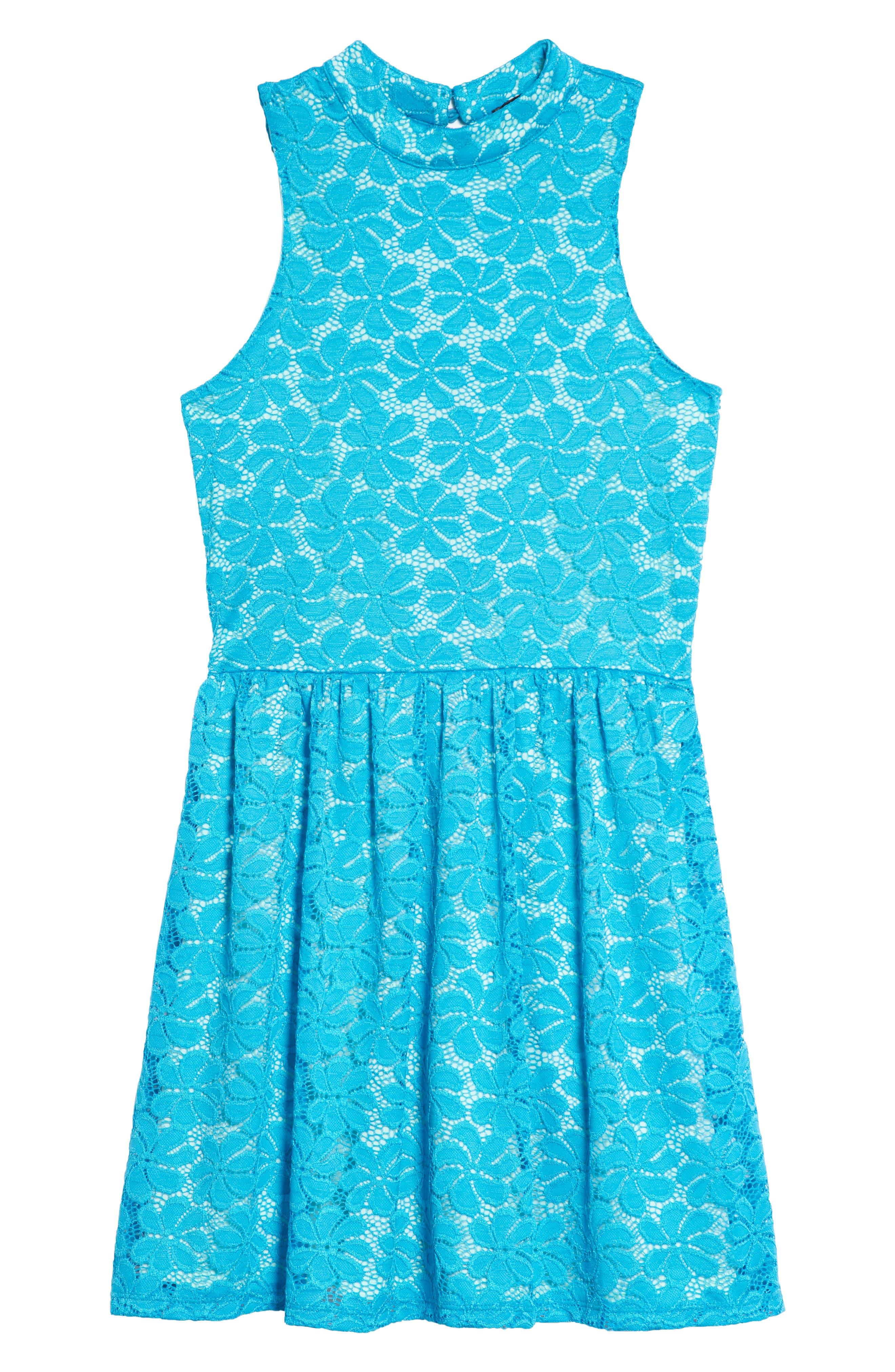 Hailee Lace Dress,                         Main,                         color, 400