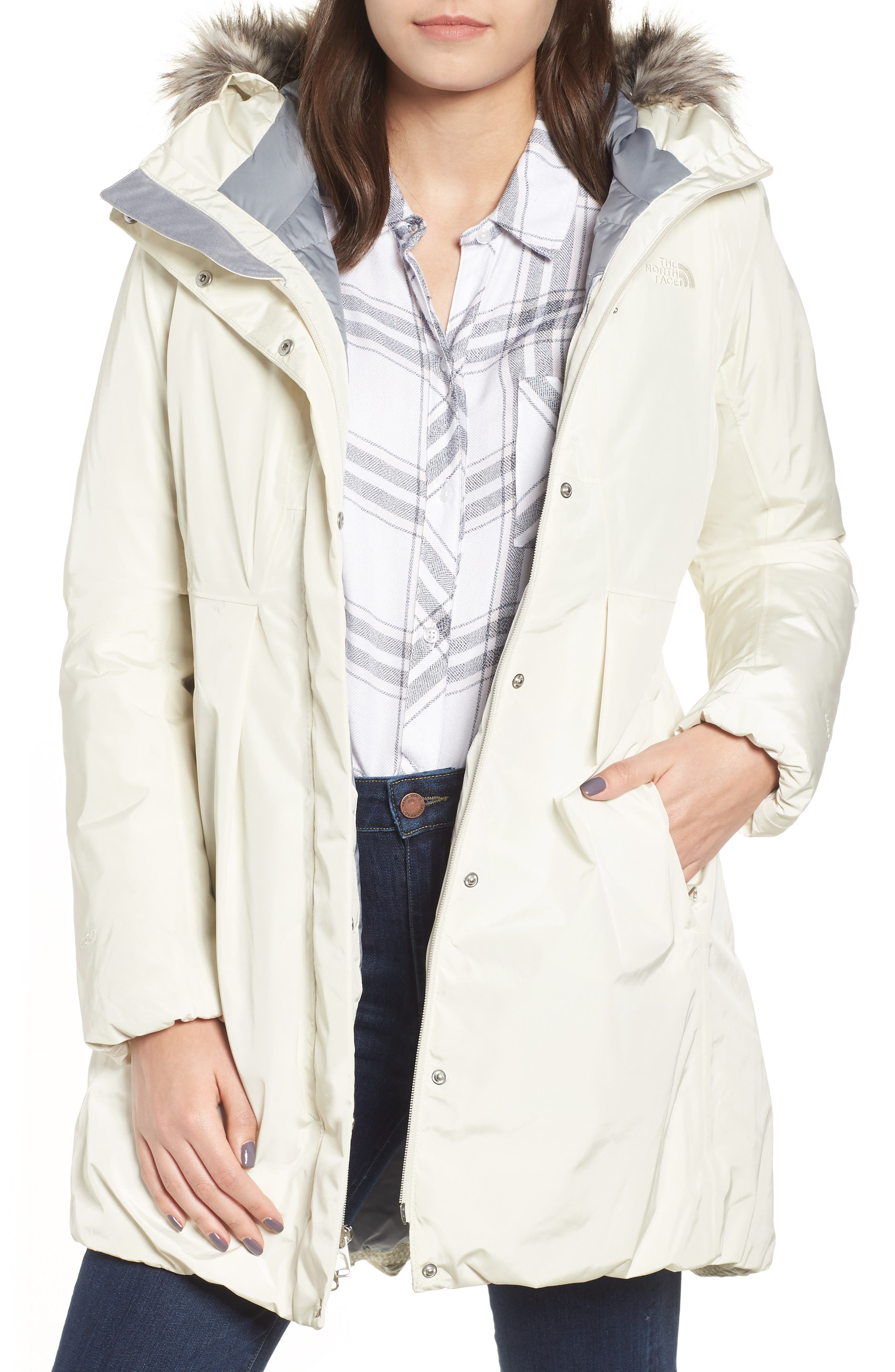 THE NORTH FACE Transarctic Mama Down Parka, Main, color, VINTAGE WHITE