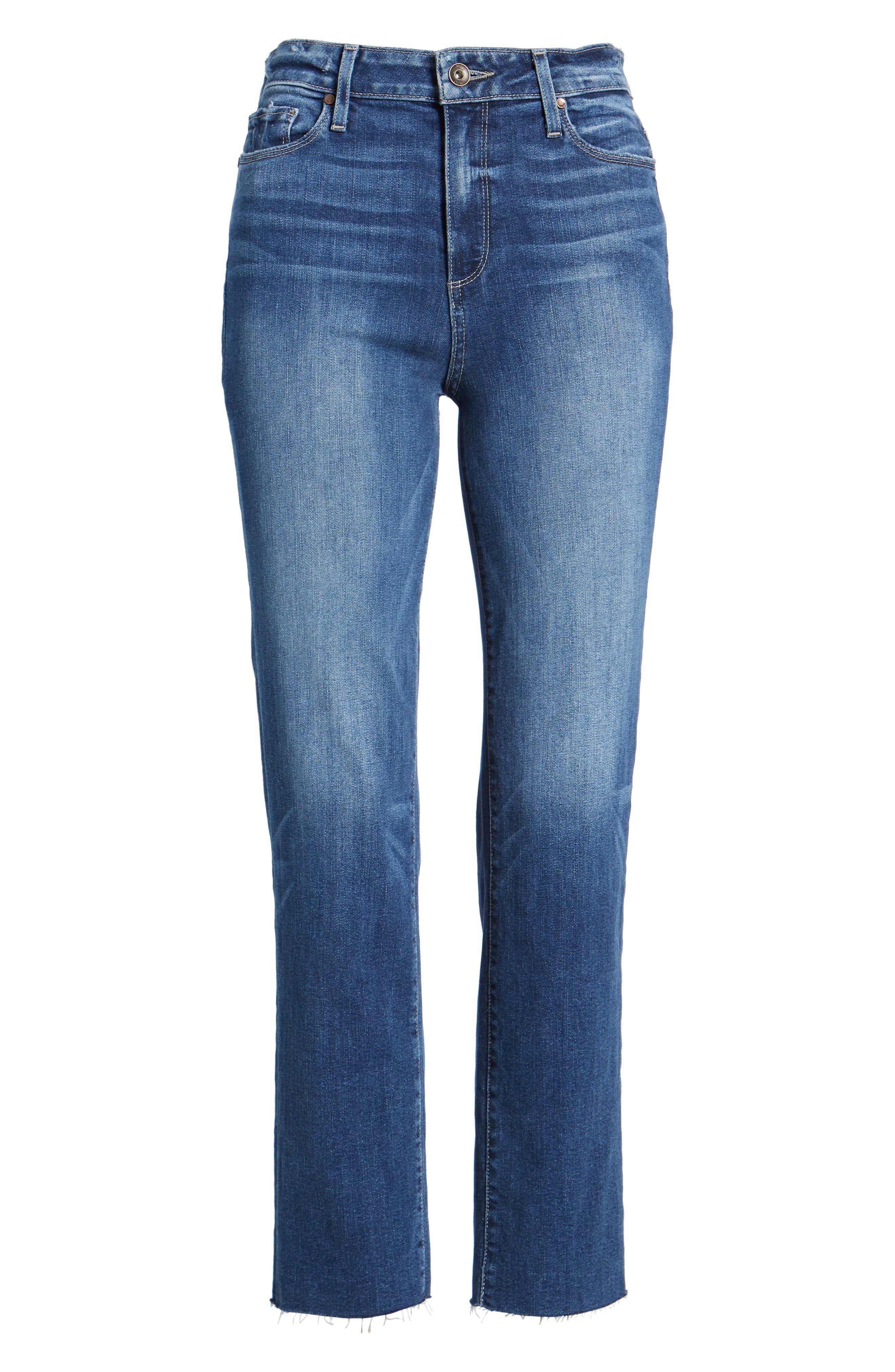 Transcend - Hoxton Ankle Straight Leg Jeans,                             Alternate thumbnail 7, color,                             400