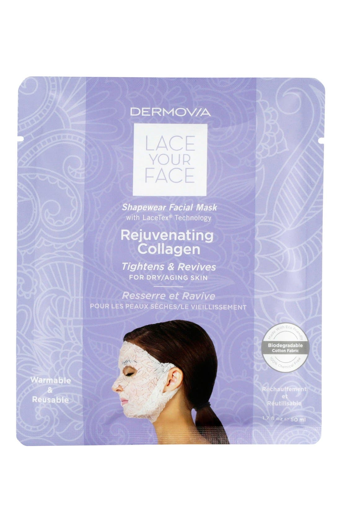 Lace Your Face Rejuvenating Collagen Compression Facial Mask,                             Main thumbnail 1, color,                             NONE