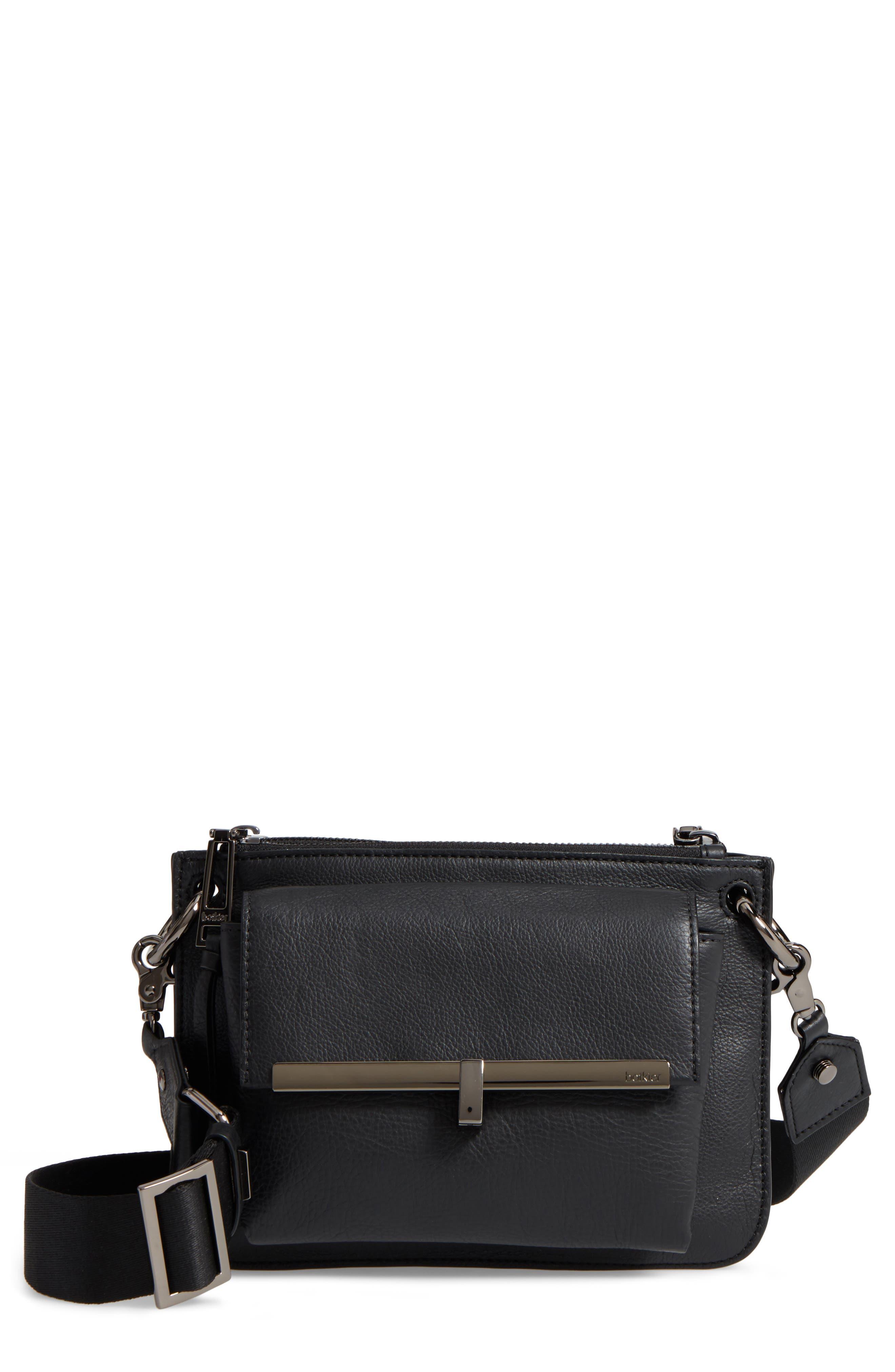 Bleeker Leather Double Shoulder Bag,                             Main thumbnail 1, color,