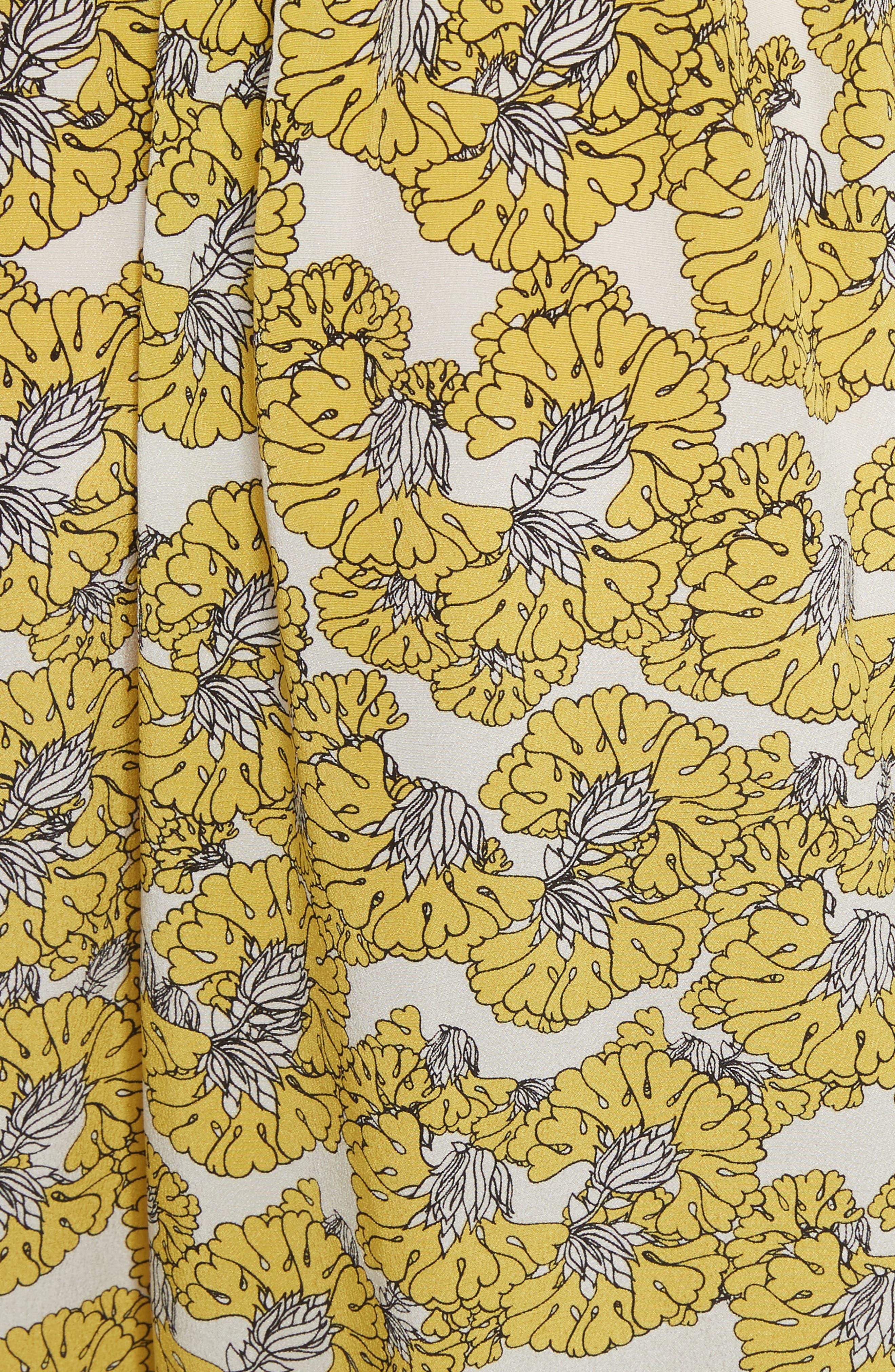 Dania Floral Print Dress,                             Alternate thumbnail 5, color,                             730