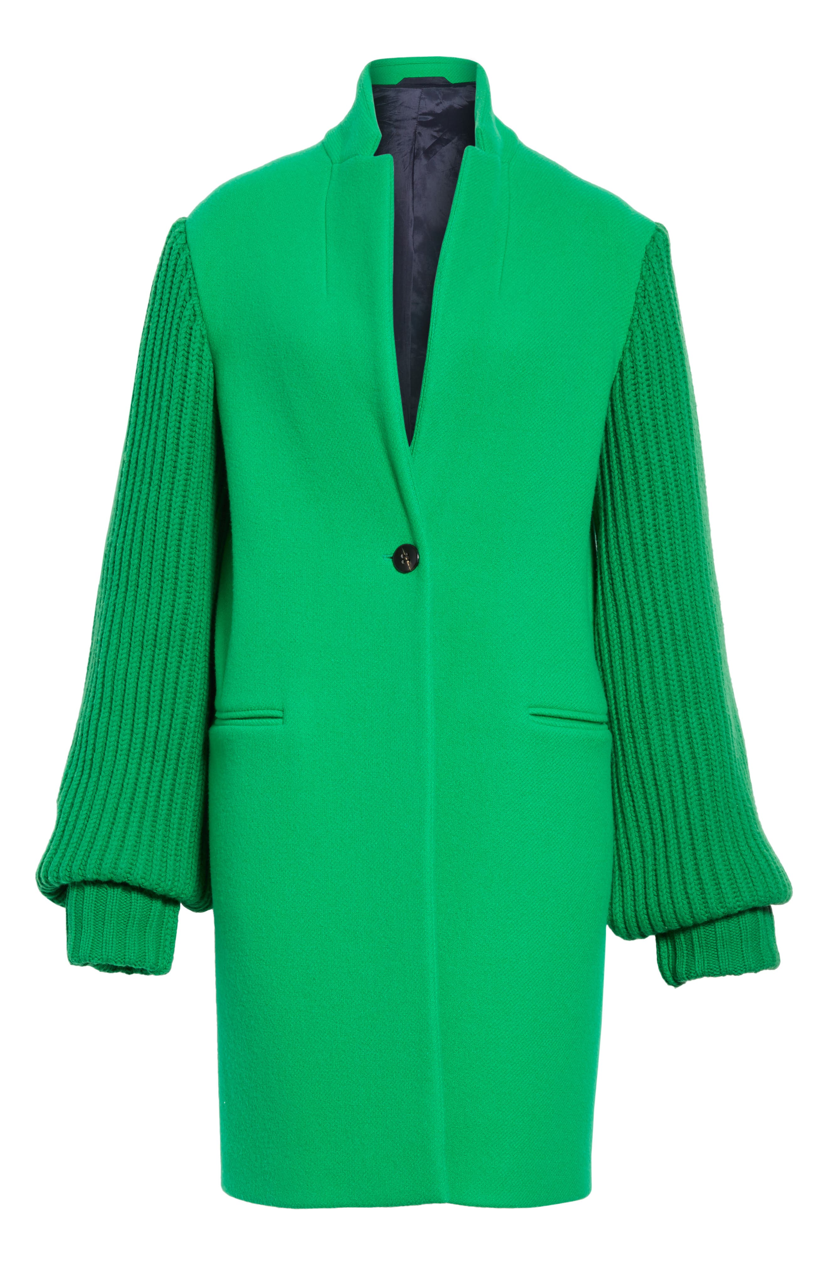 Ask Me Later Embroidered Knit Sleeve Coat,                             Alternate thumbnail 5, color,                             300