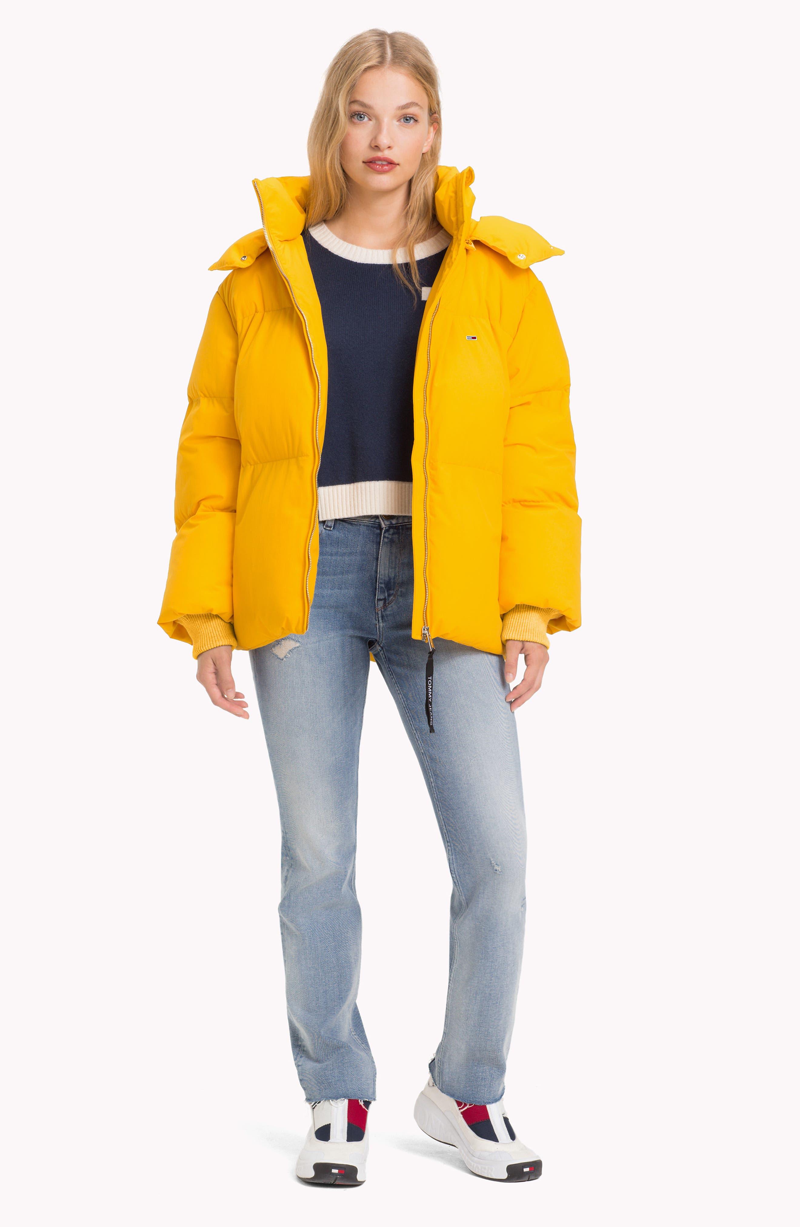 TJW Oversized Puffer Jacket,                             Alternate thumbnail 9, color,                             MANGO MOJITO