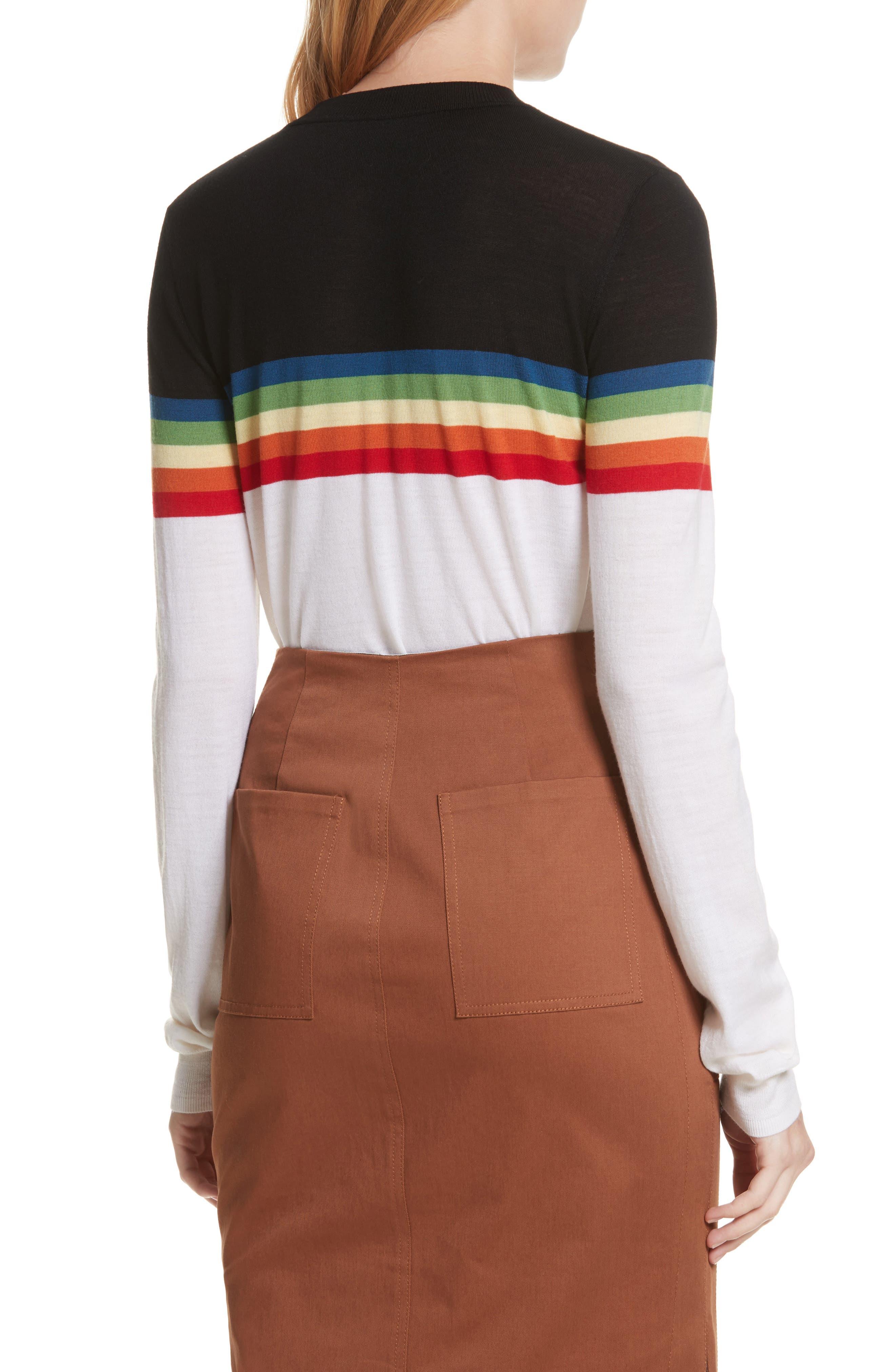 Diane von Furstenberg Rainbow Sweater,                             Alternate thumbnail 2, color,                             107