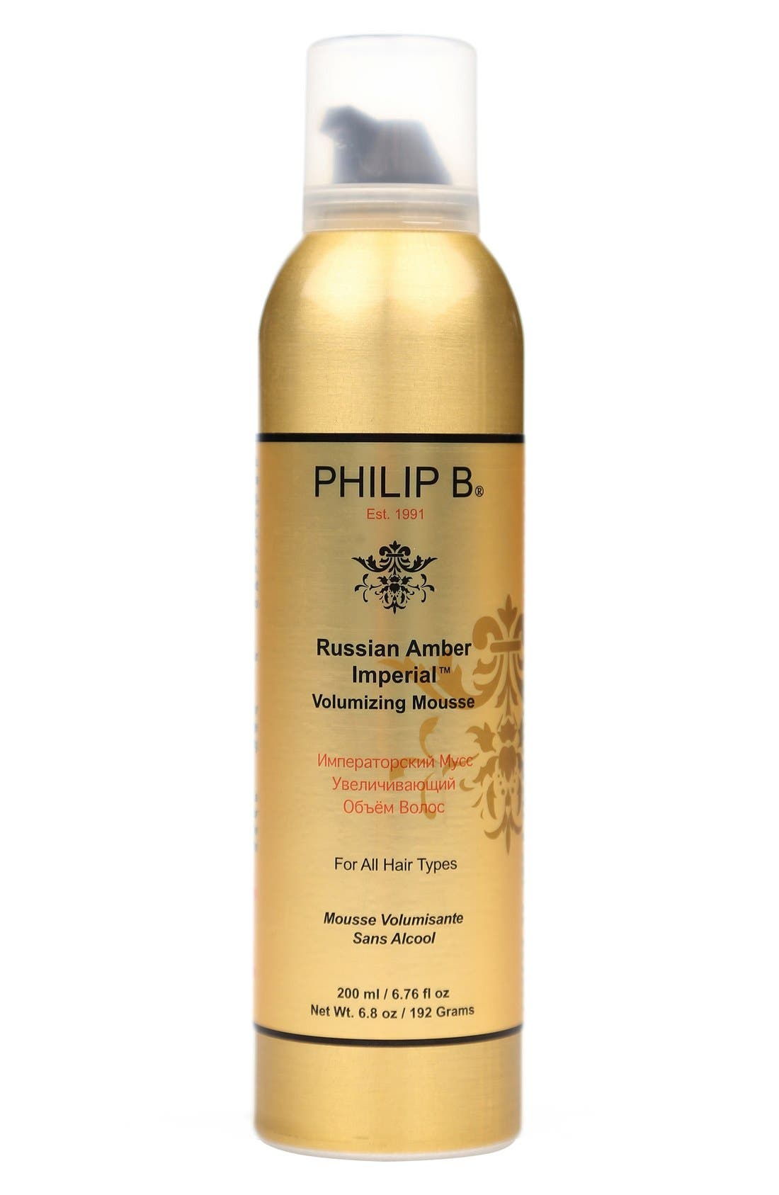 SPACE.NK.apothecary PHILIP B<sup>®</sup> Russian Amber Imperial<sup>™</sup> Volumizing Mousse,                         Main,                         color, 000