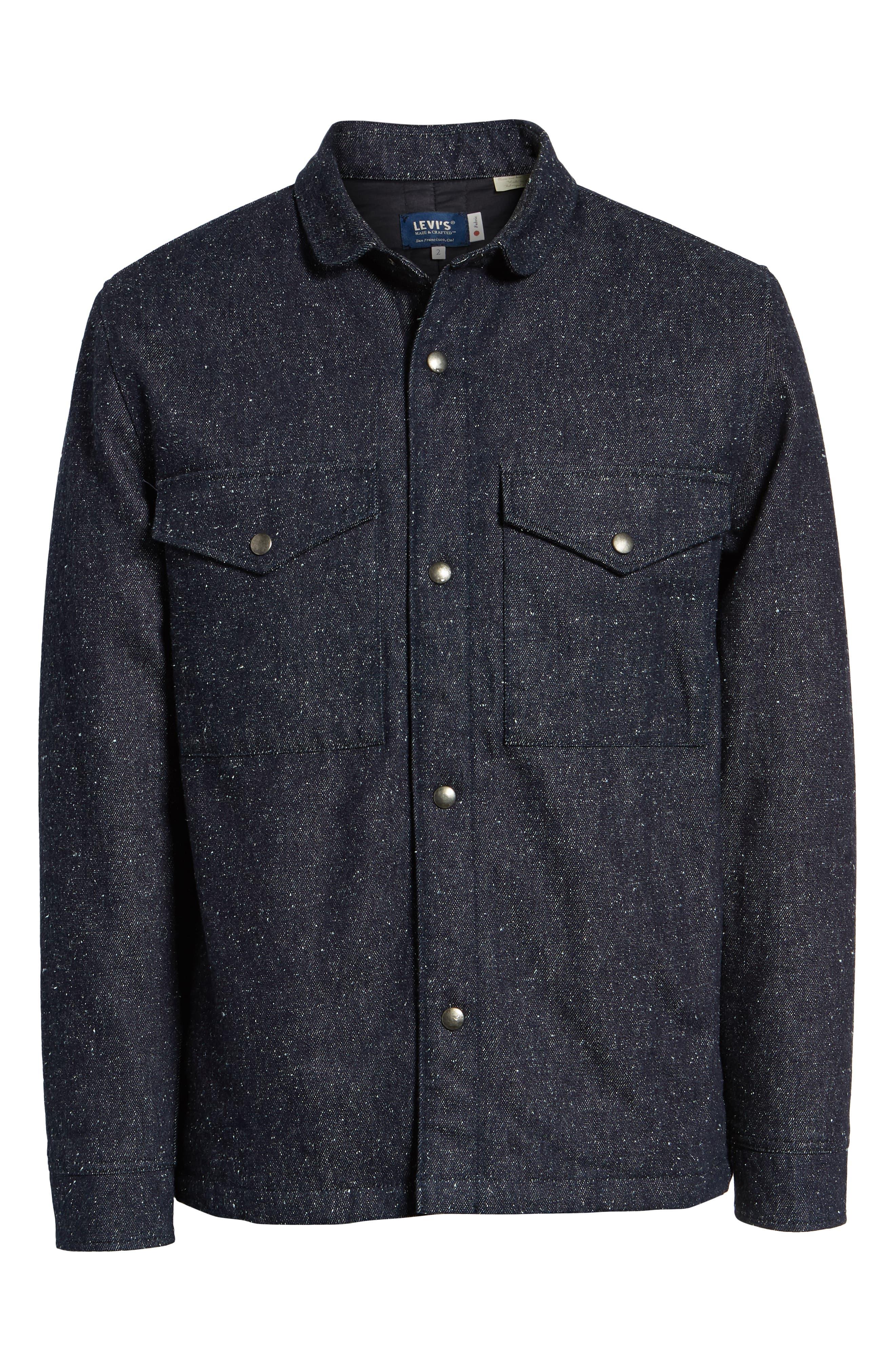 Nep Shirt Jacket,                             Alternate thumbnail 6, color,                             DENIM BLUES