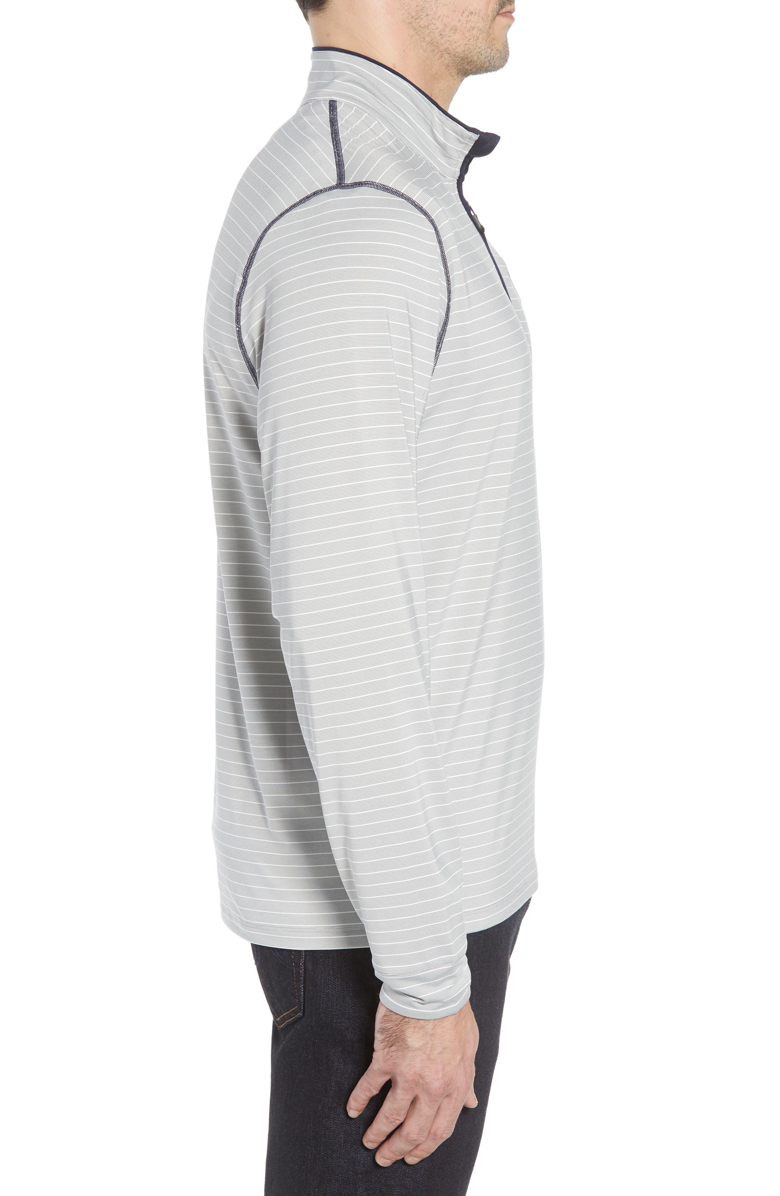 Los Angeles Rams - Meridian Half Zip Pullover,                             Alternate thumbnail 3, color,                             NAVY