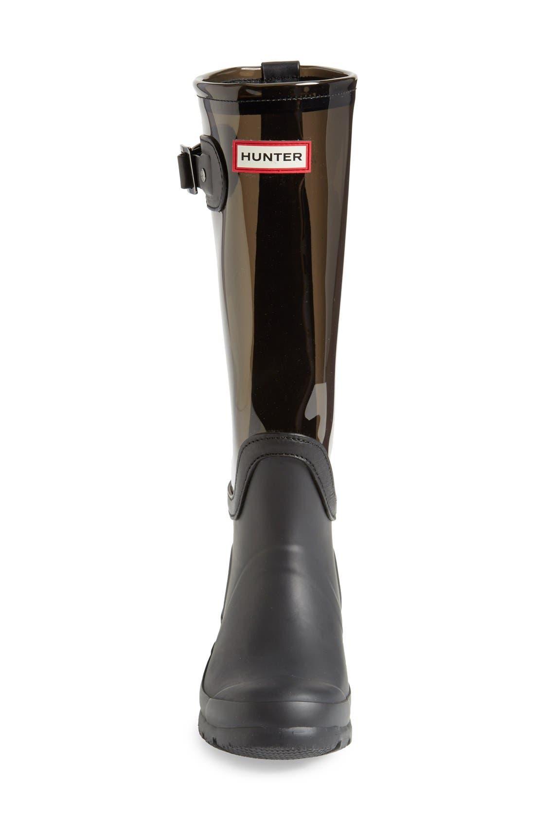 'Original' Clear Waterproof Rain Boot,                             Alternate thumbnail 4, color,                             021