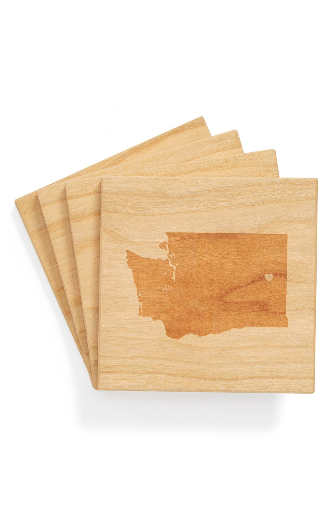 'State Silhouette' Coasters,                             Main thumbnail 22, color,