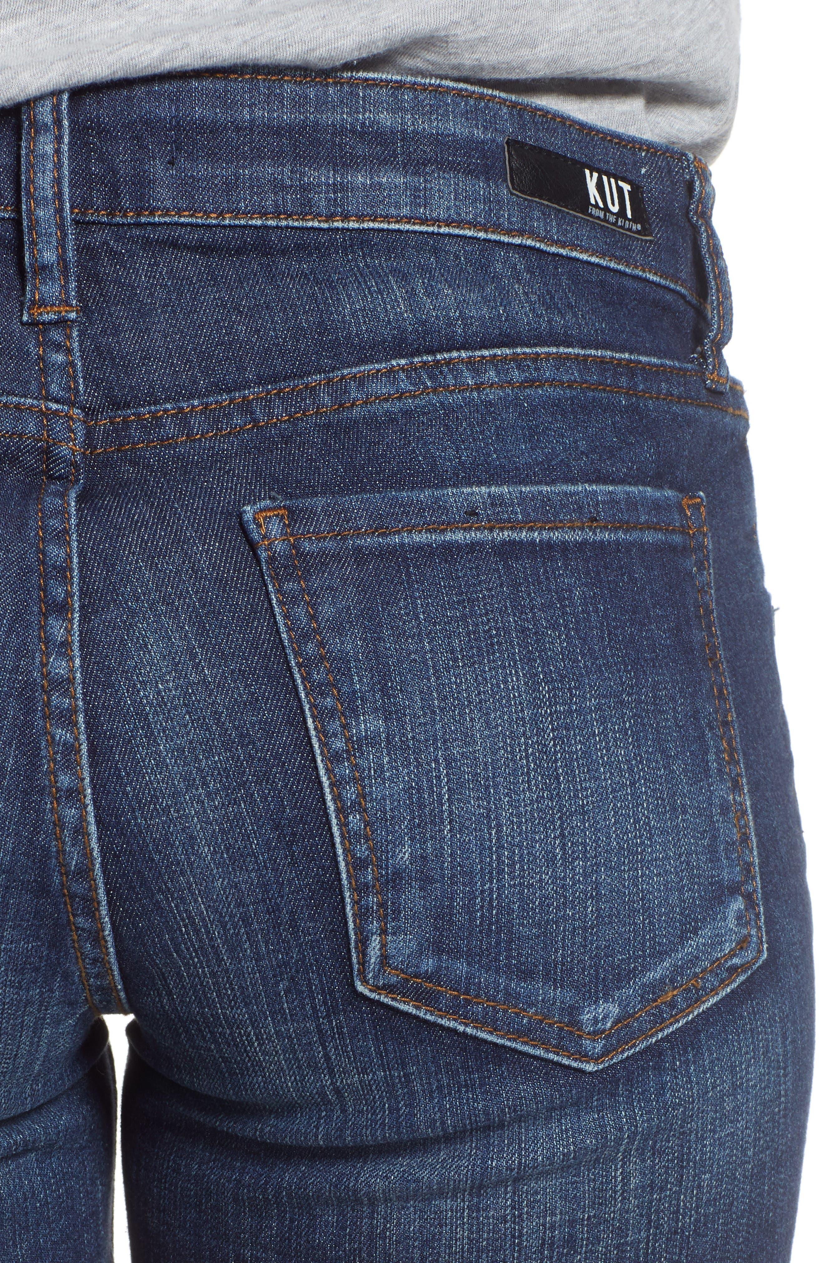 KUT Kollection Gidget Cutoff Denim Shorts,                             Alternate thumbnail 4, color,                             400
