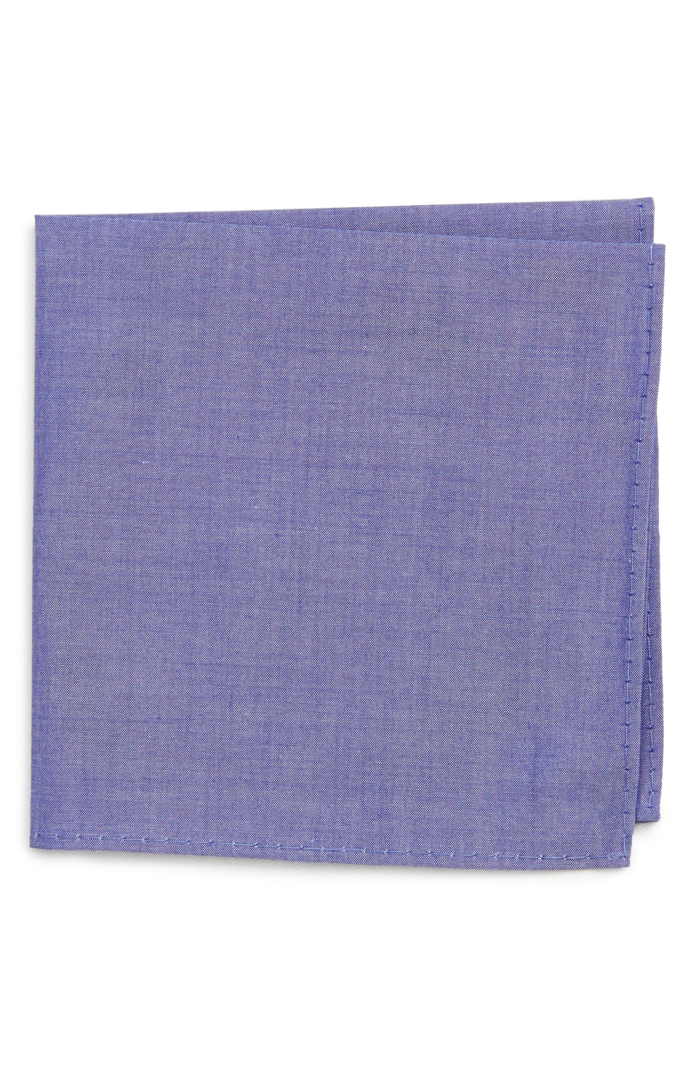 Chambray Pocket Square,                         Main,                         color, 475