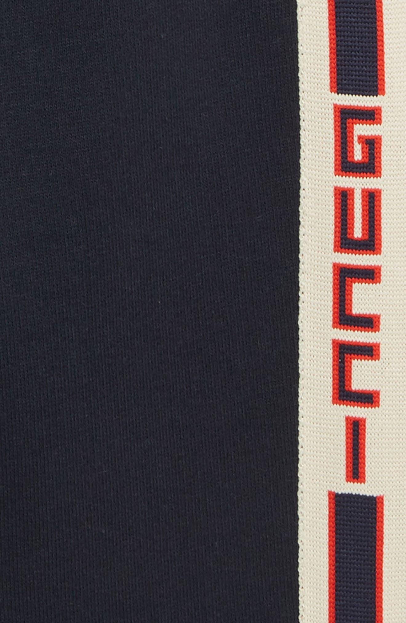 GUCCI,                             Logo Stripe Jogging Pants,                             Alternate thumbnail 2, color,                             MULTI BLUE