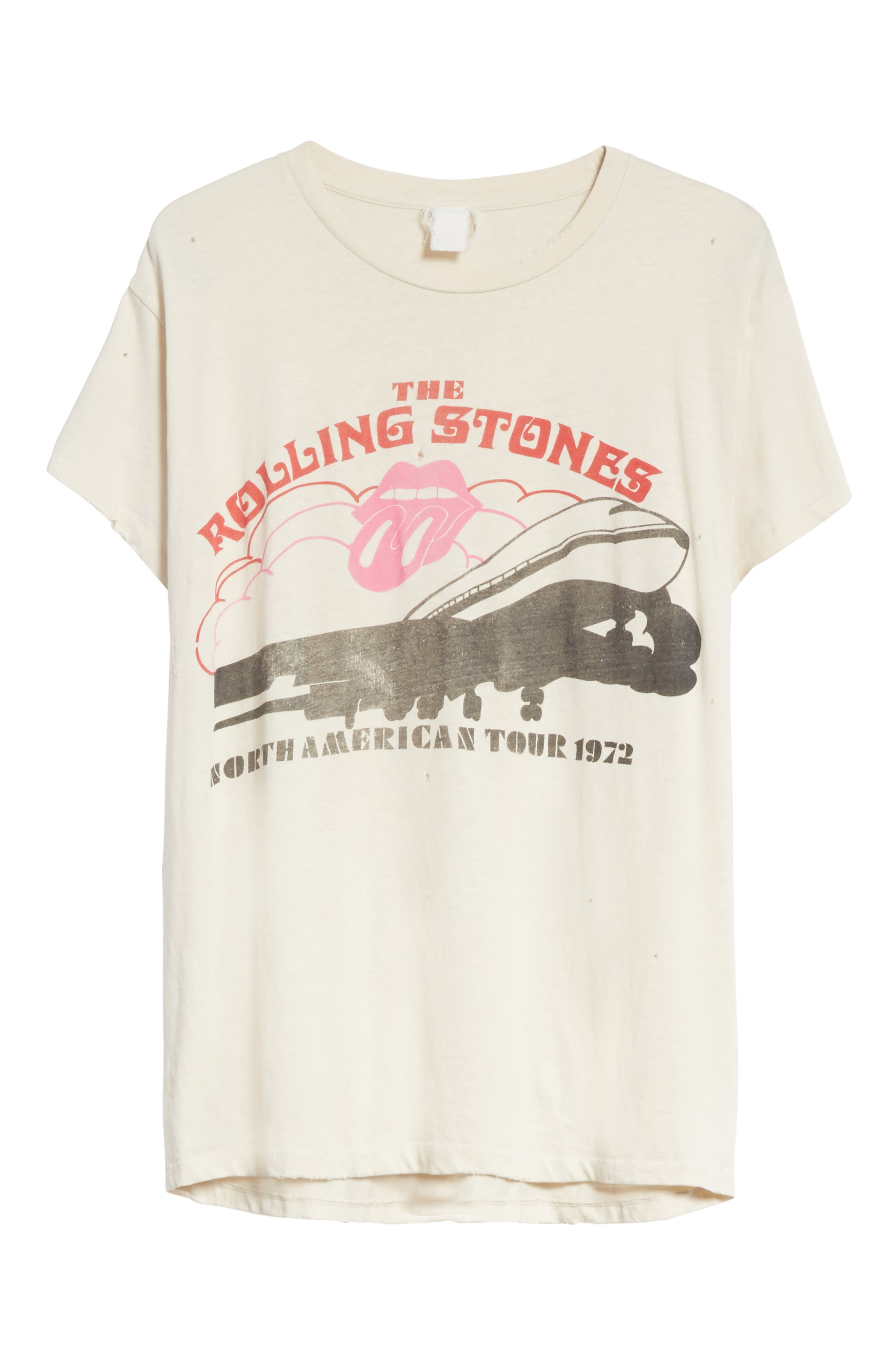 The Rolling Stones North American Tour 1972 Graphic T-Shirt,                             Alternate thumbnail 6, color,                             100