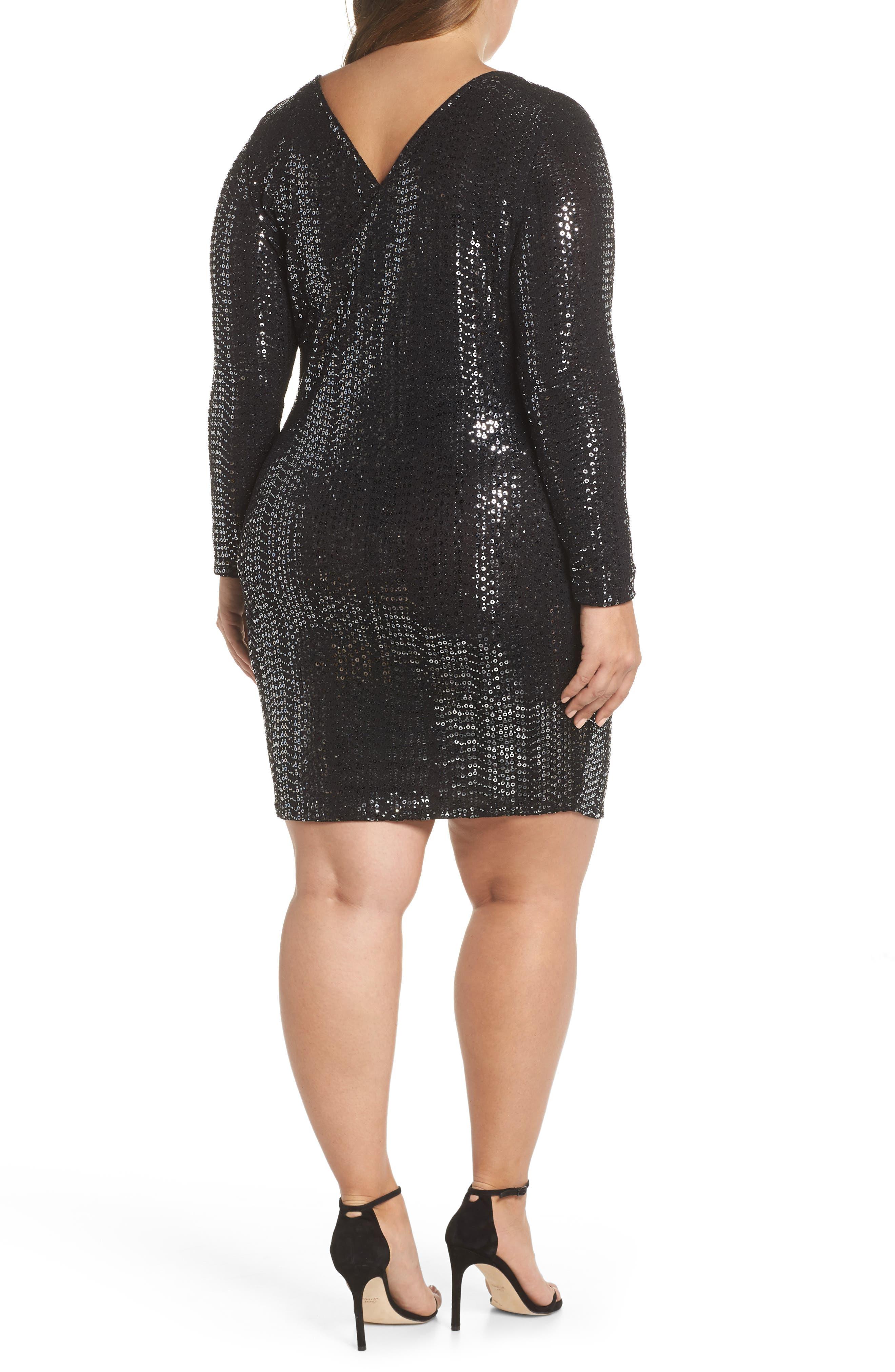 Sequin Sheath Dress,                             Alternate thumbnail 2, color,                             BLACK
