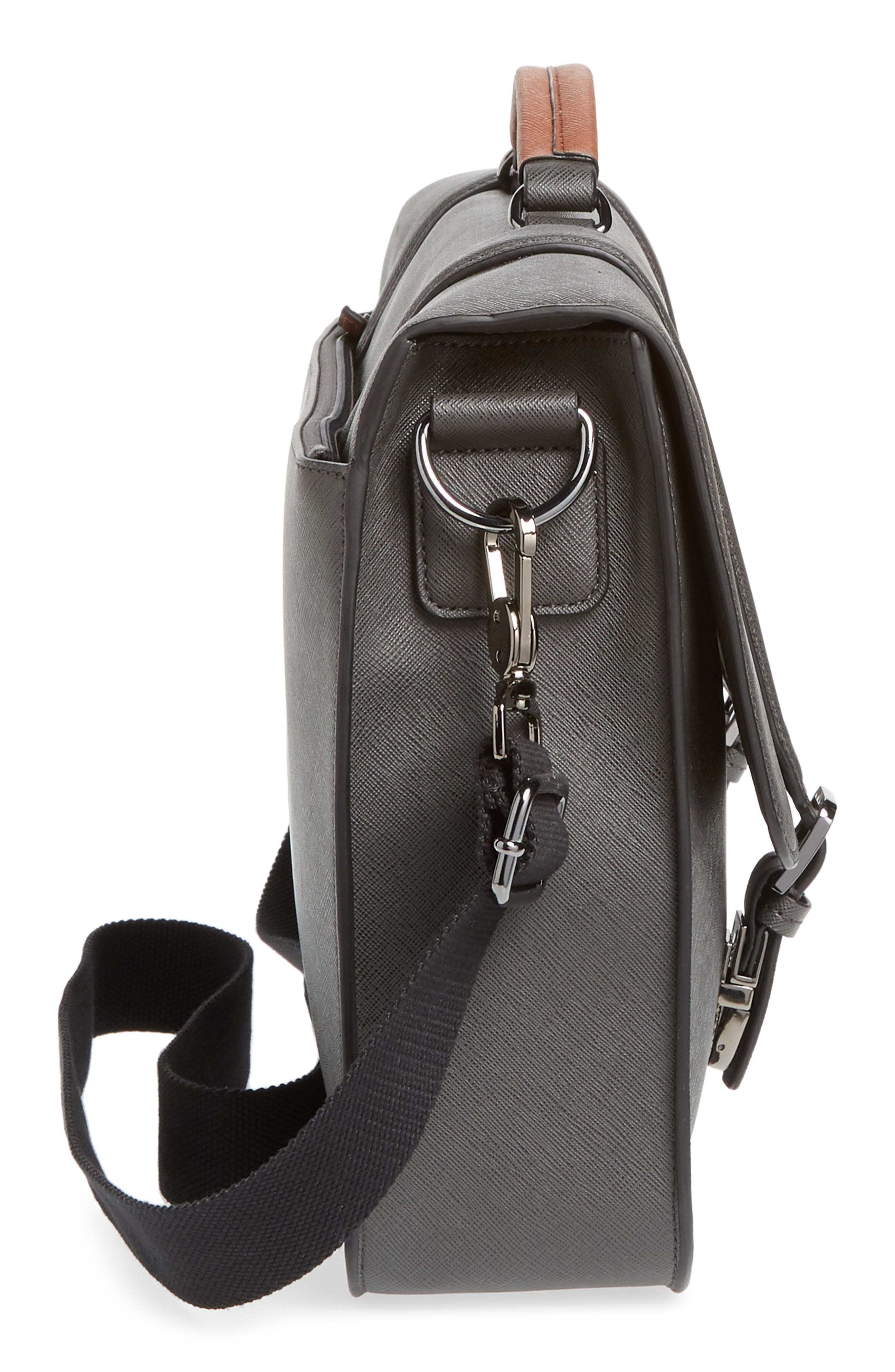 Crossgrain Messenger Bag,                             Alternate thumbnail 5, color,                             CHARCOAL