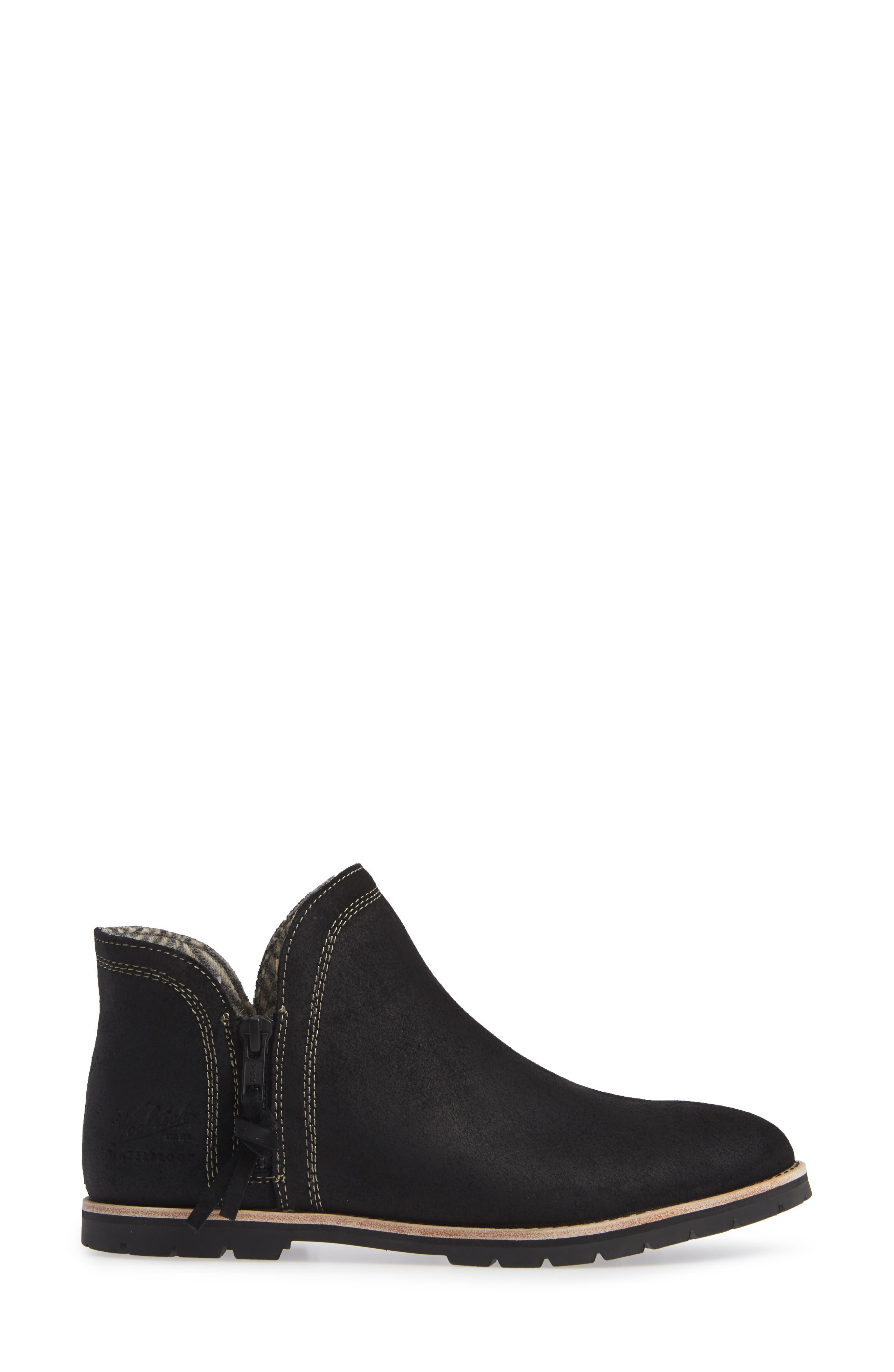 Bly Waterproof Bootie,                             Alternate thumbnail 3, color,                             BLACK SUEDE