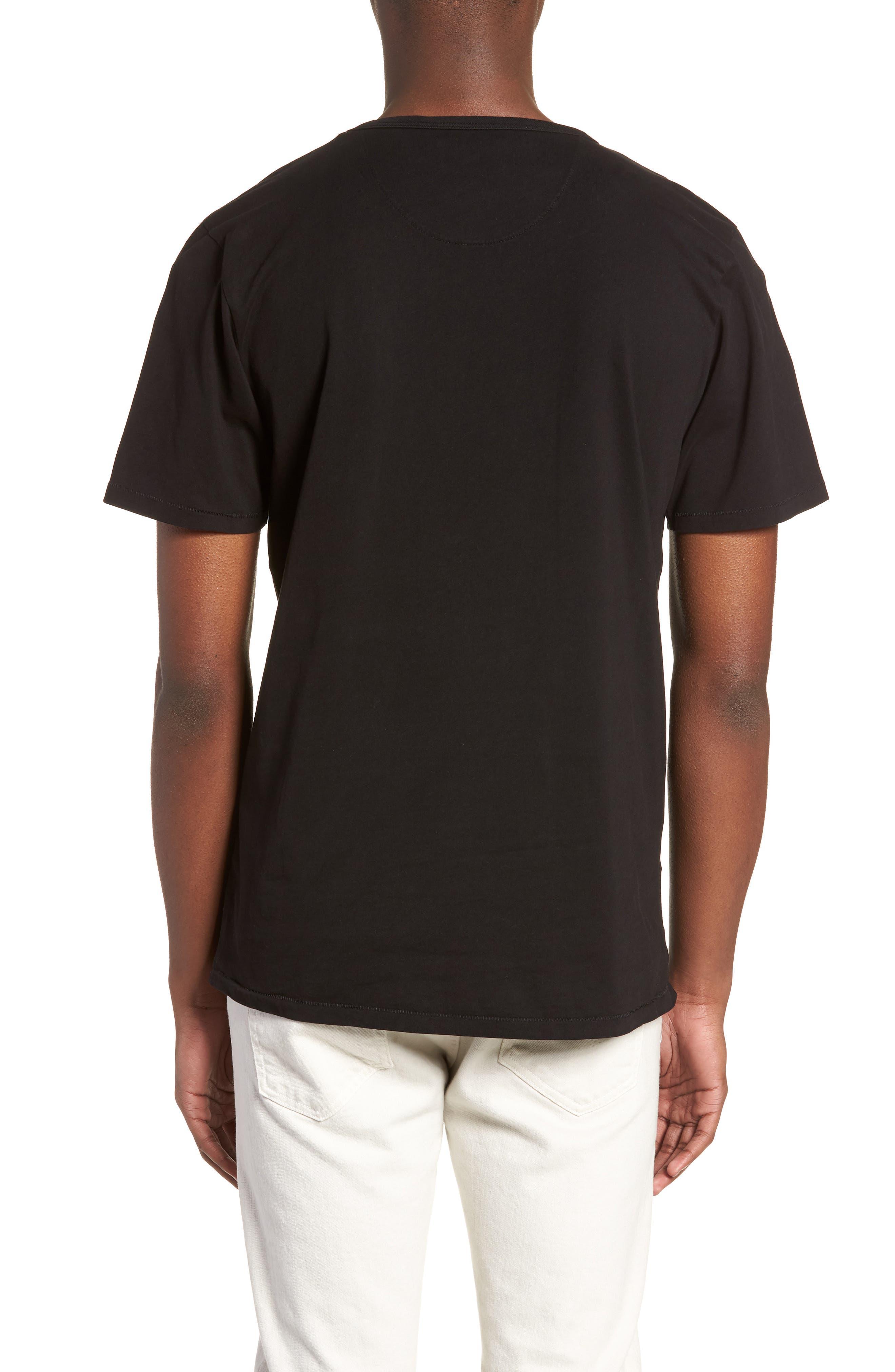 Brandon Pima T-Shirt,                             Alternate thumbnail 2, color,                             BLACK