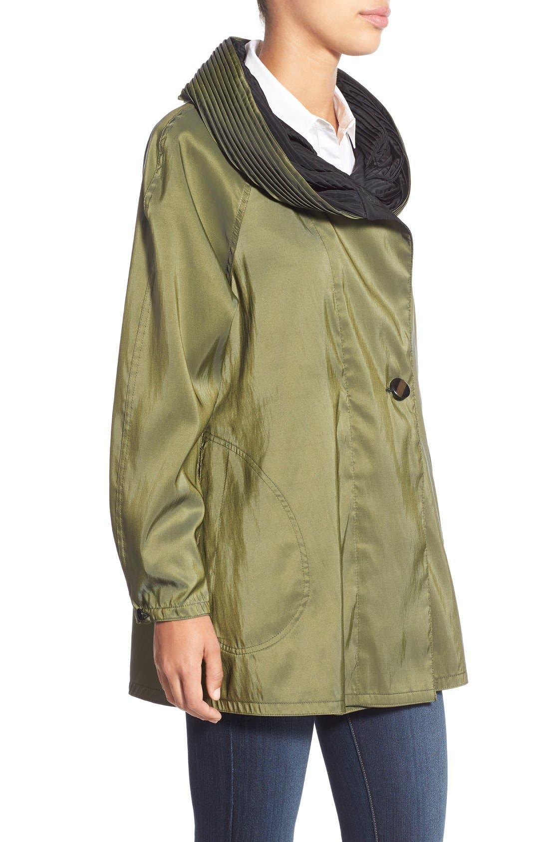 'Mini Donatella' Reversible Pleat Hood Packable Travel Coat,                             Alternate thumbnail 50, color,