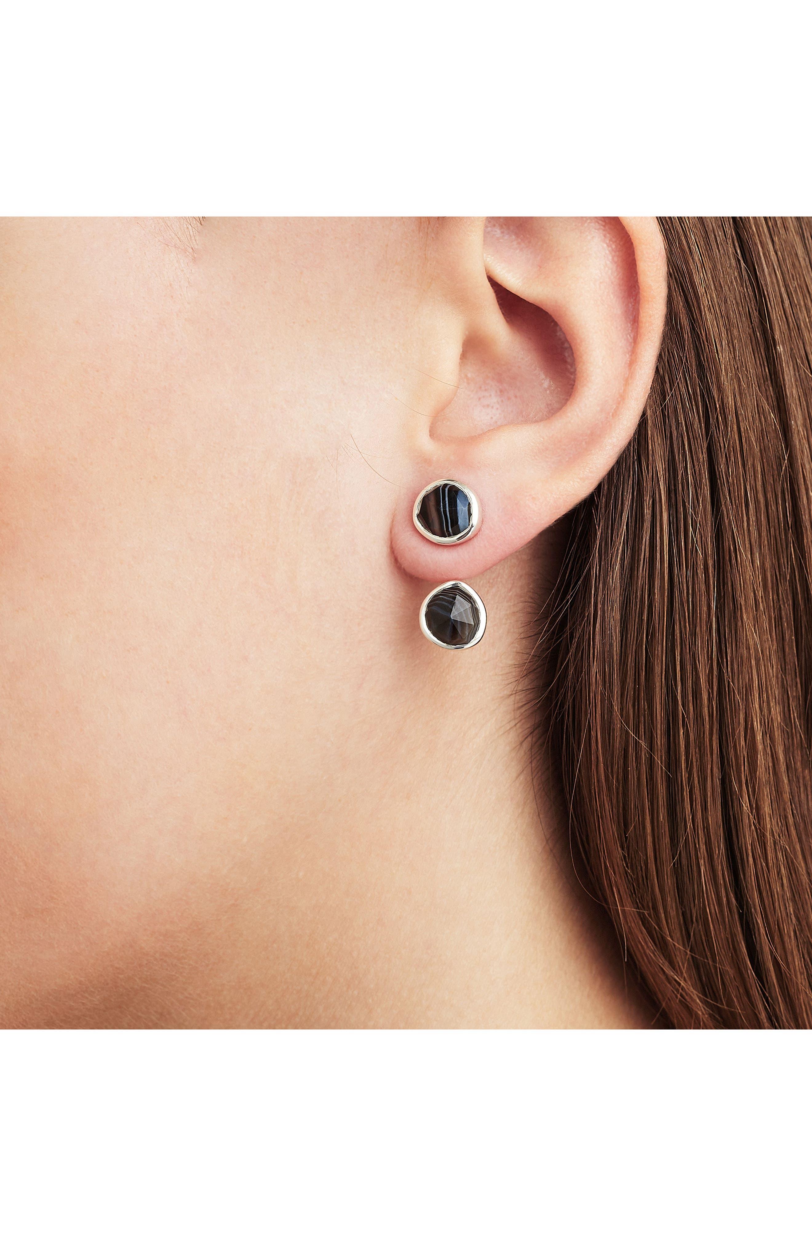 Siren Semiprecious Stone Ear Jackets,                             Alternate thumbnail 2, color,                             040