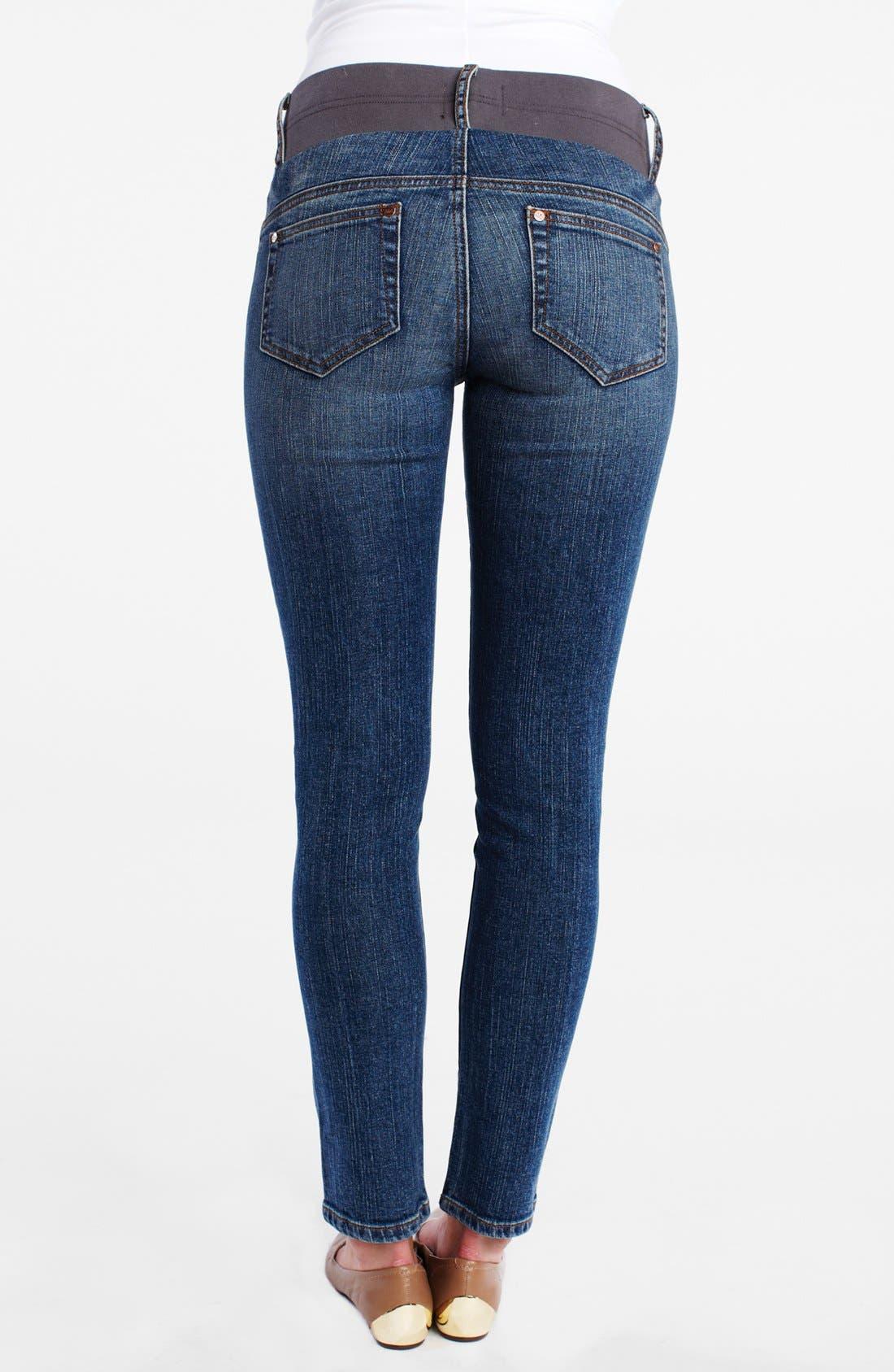 Maternity Ankle Skinny Jeans,                             Alternate thumbnail 4, color,
