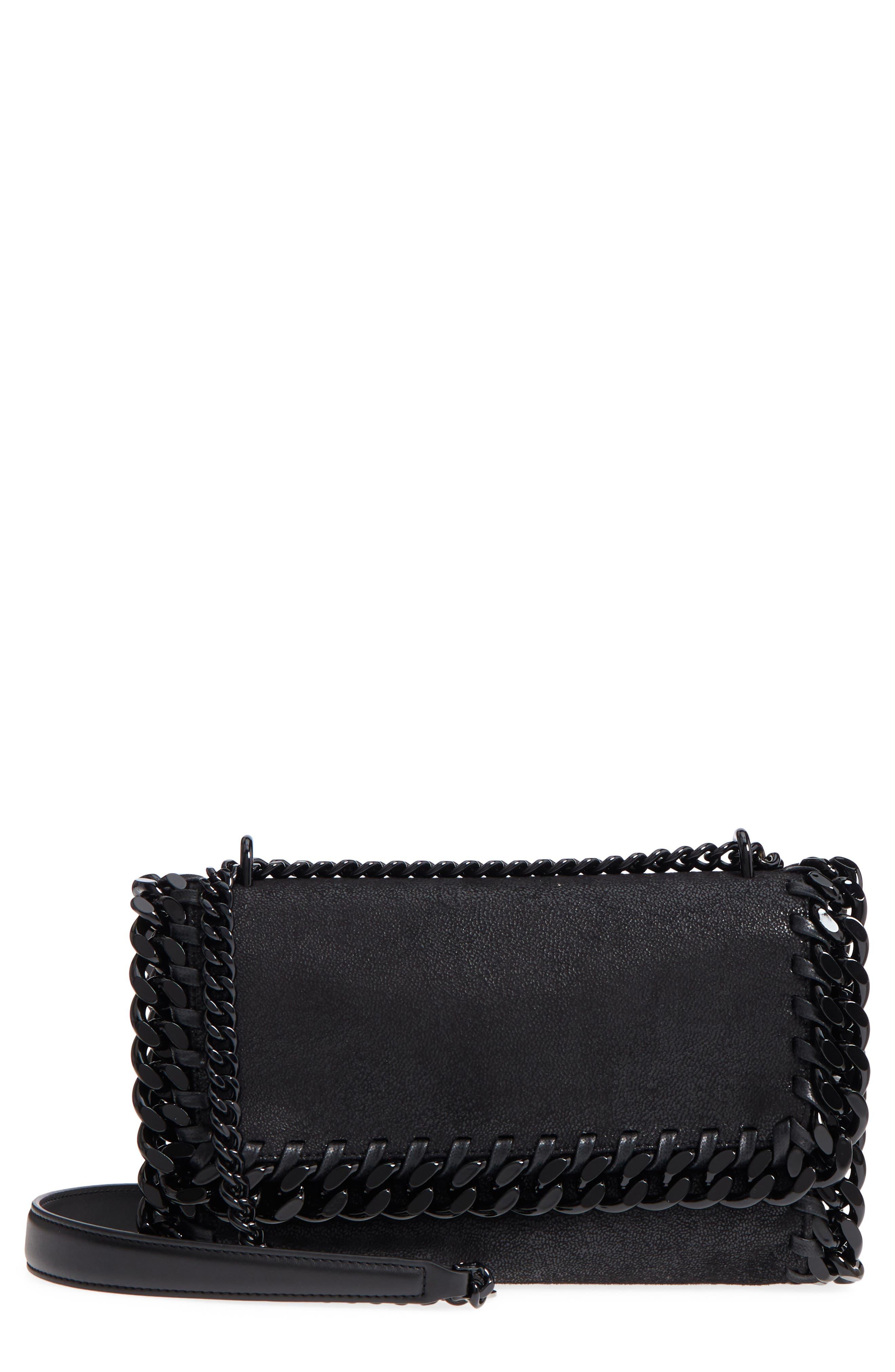 Falabella Shaggy Deer Faux Leather Shoulder Bag,                             Main thumbnail 1, color,                             001