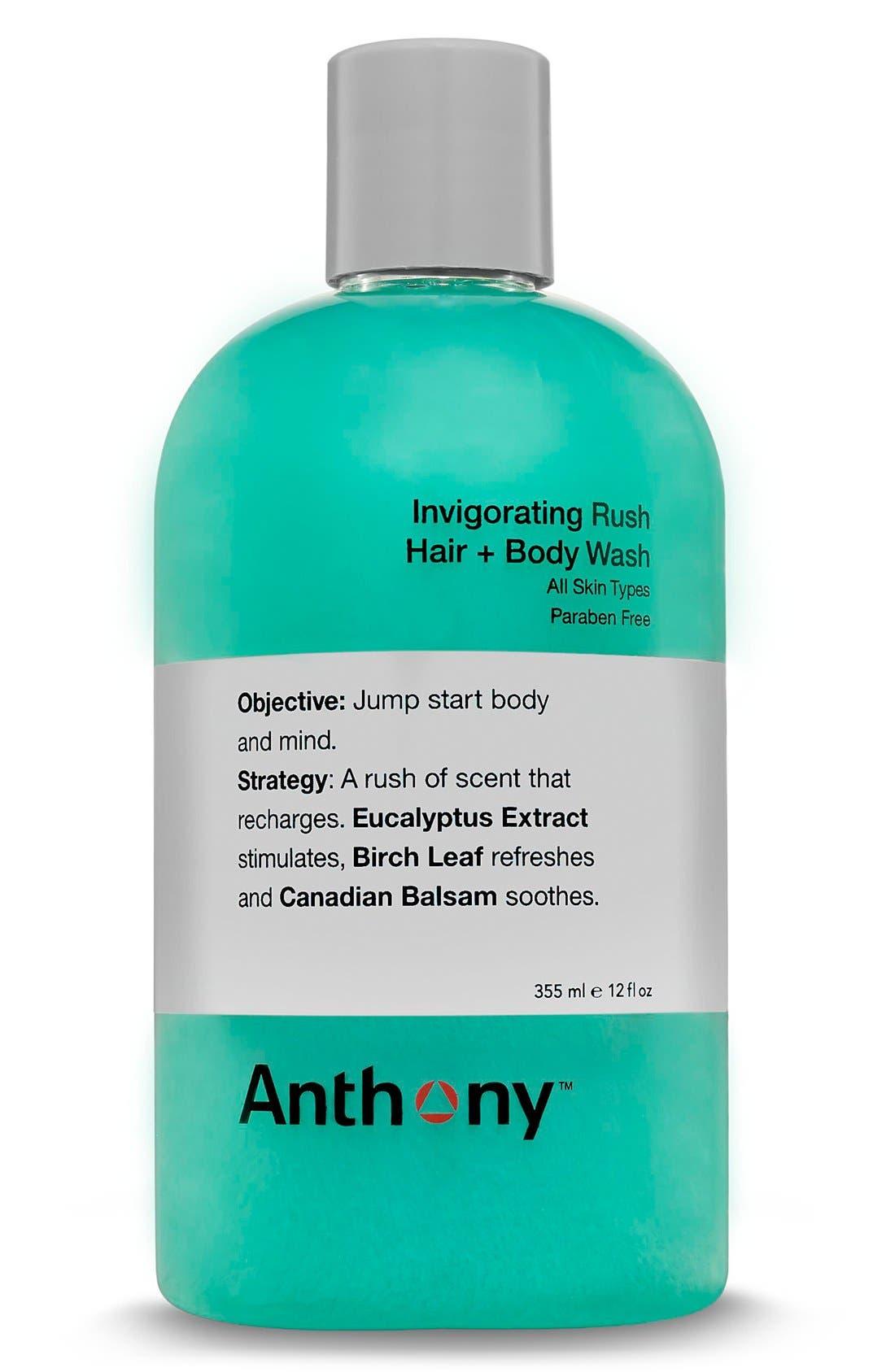 Invigorating Rush Hair & Body Wash,                             Main thumbnail 1, color,