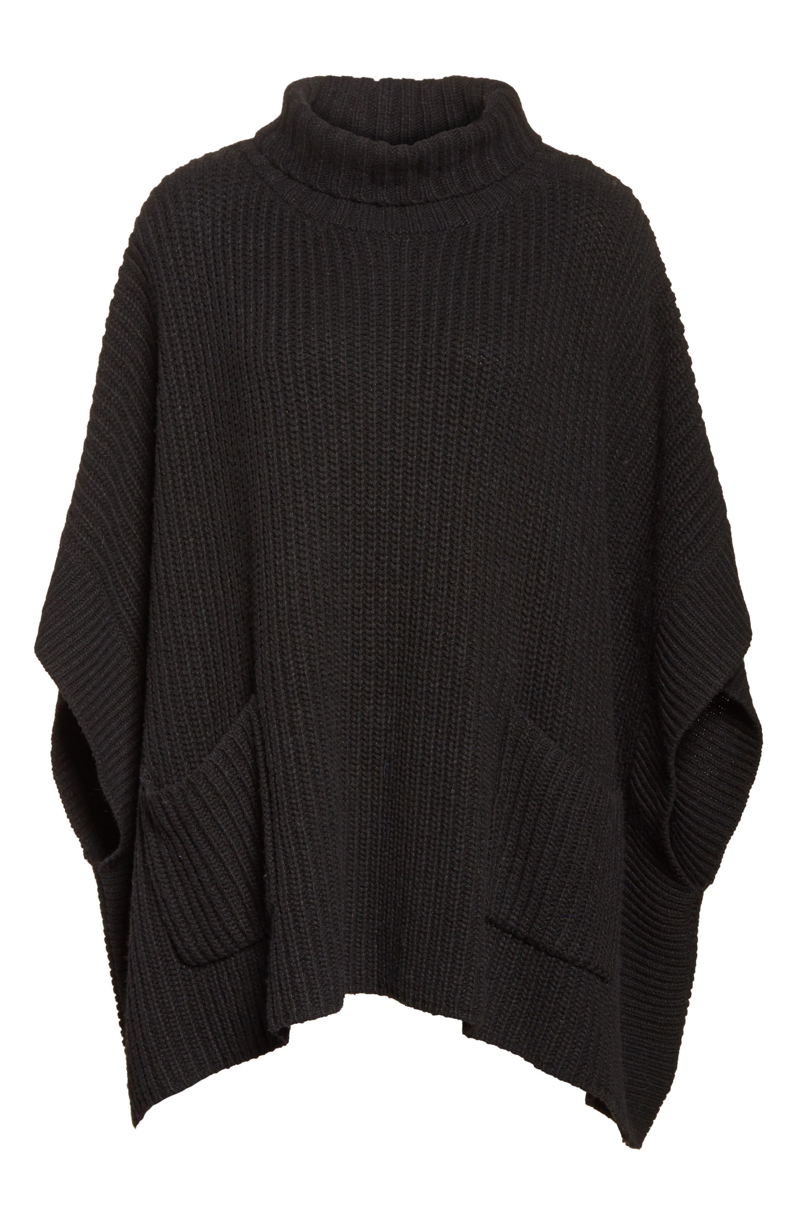 Serina Oversize Sweater,                             Alternate thumbnail 6, color,                             007