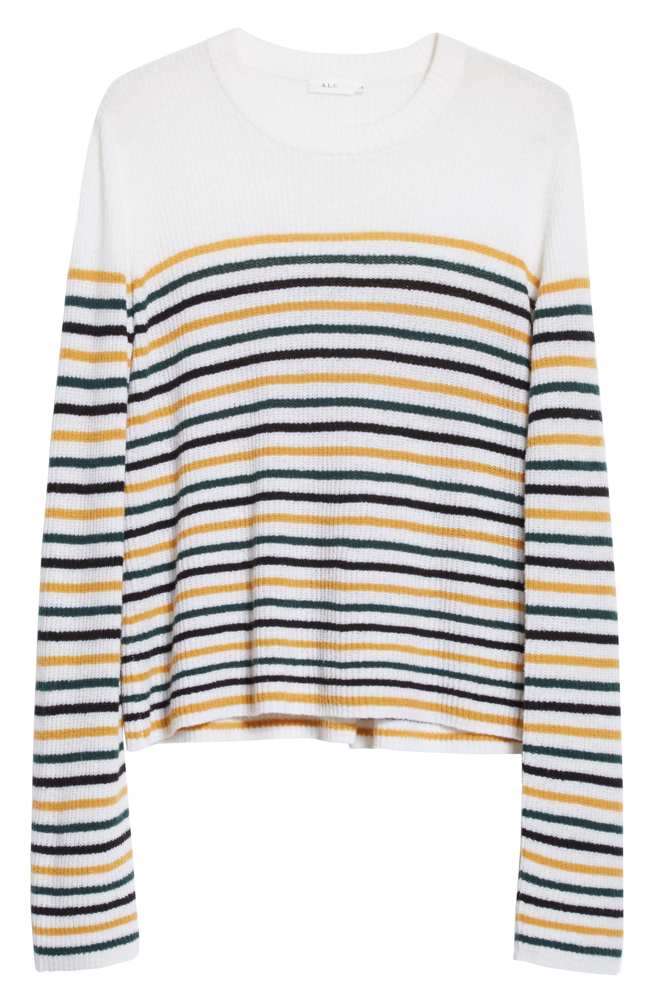Meryl Stripe Sweater,                             Alternate thumbnail 12, color,
