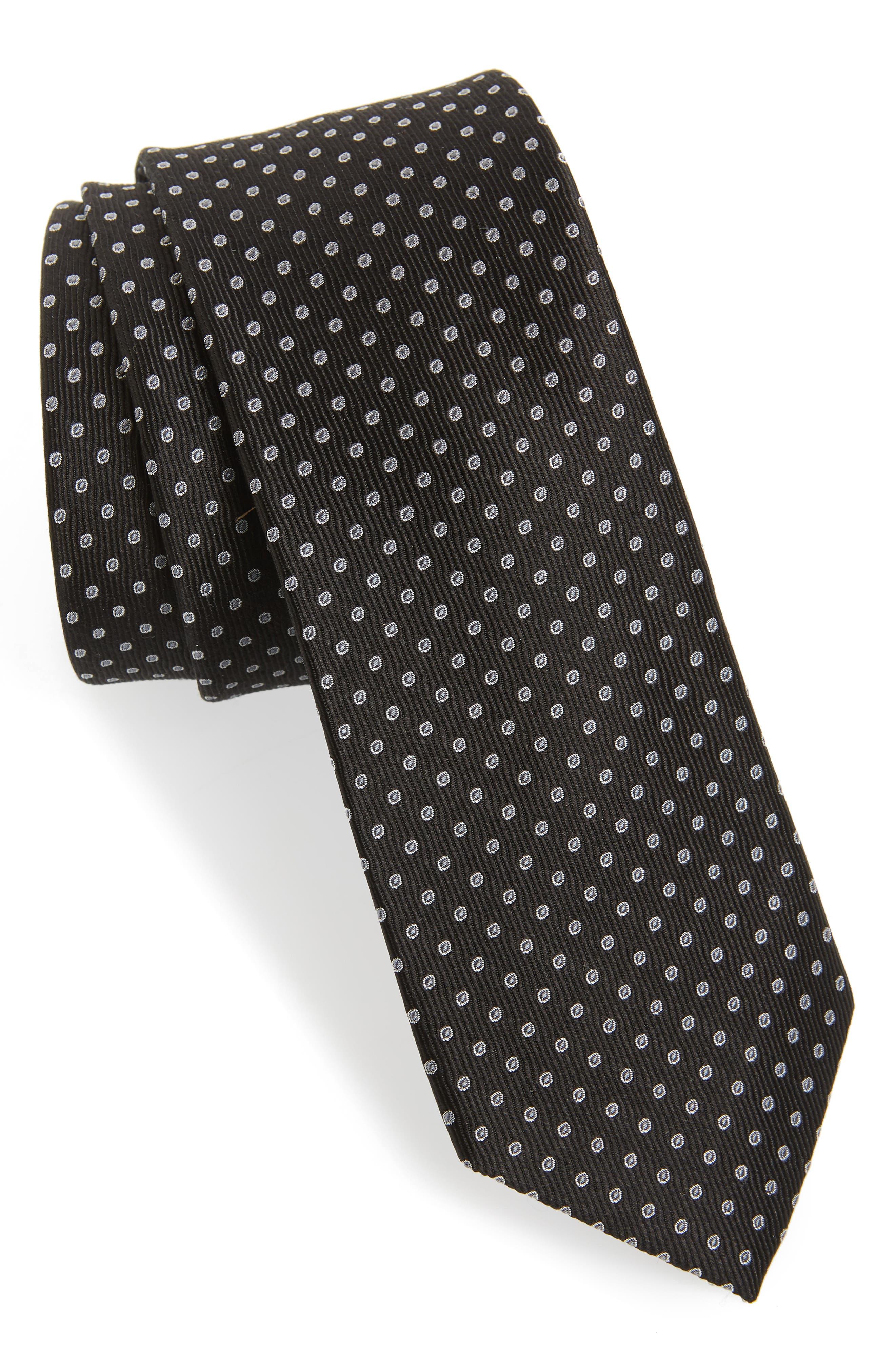 Newport Dot Silk Tie,                             Main thumbnail 1, color,