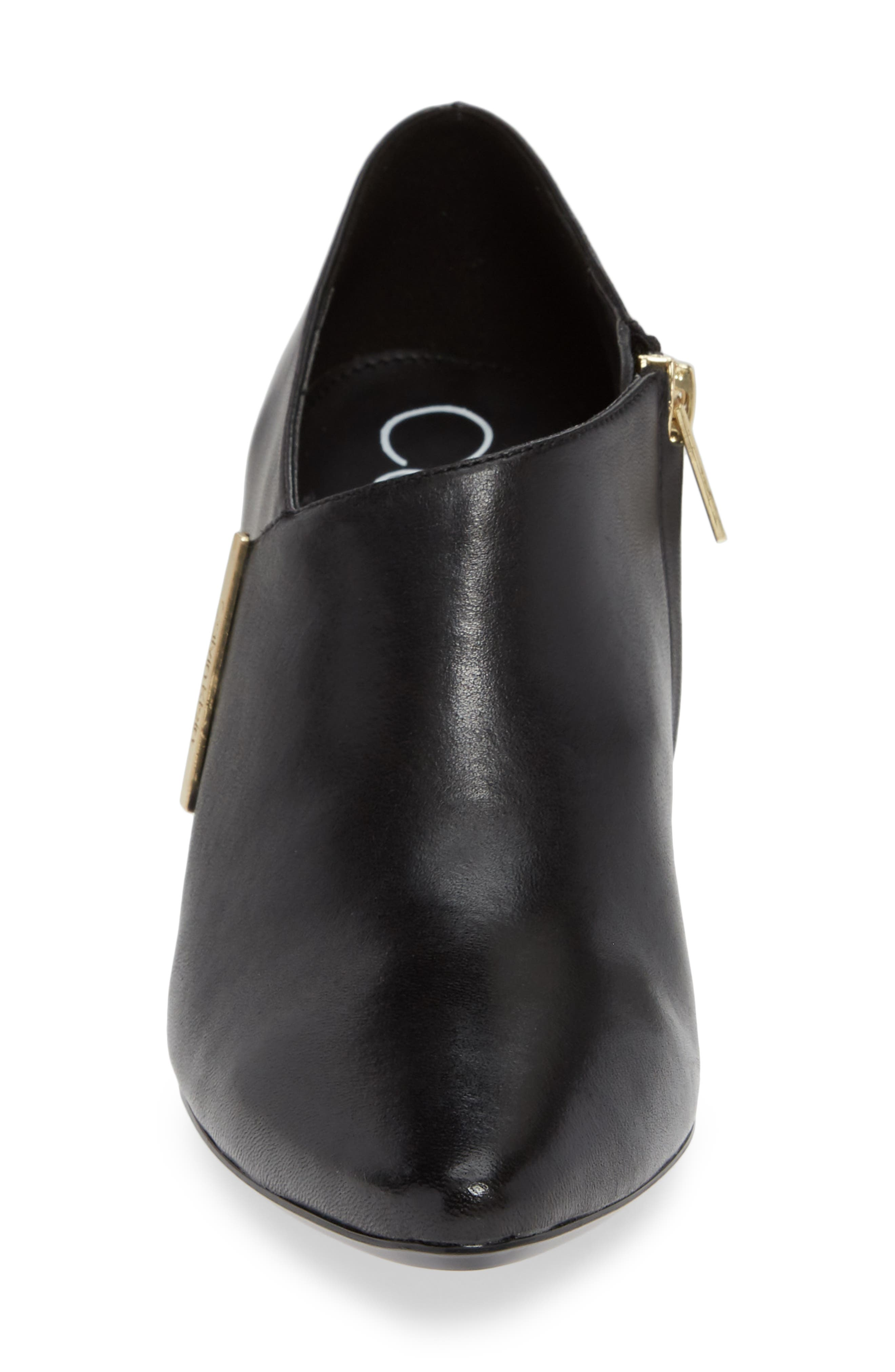 Jeanna Bootie,                             Alternate thumbnail 4, color,                             BLACK LEATHER