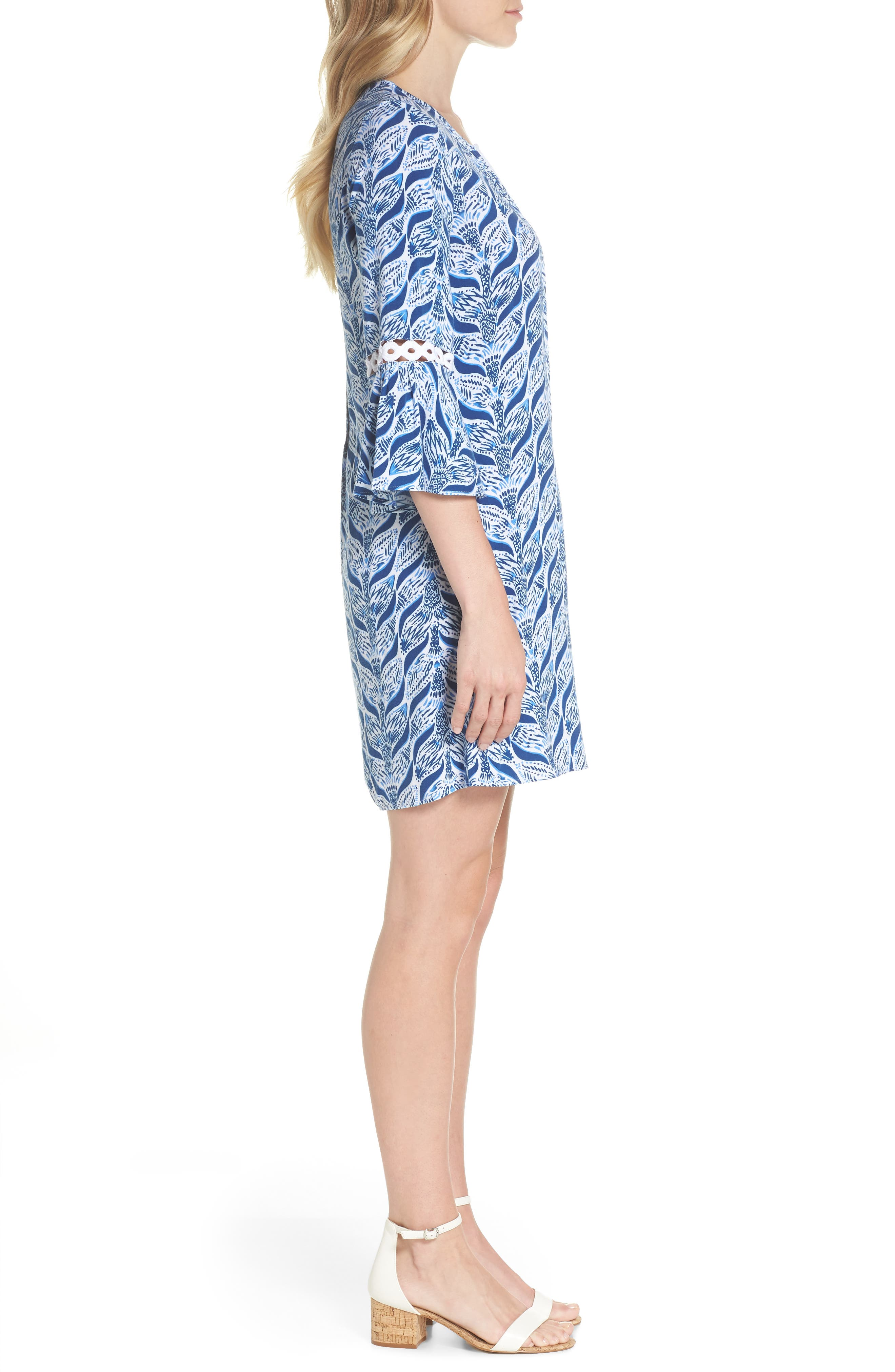 Hollie Tunic Dress,                             Alternate thumbnail 3, color,                             RESORT WHITE A MERMAIDS TAIL