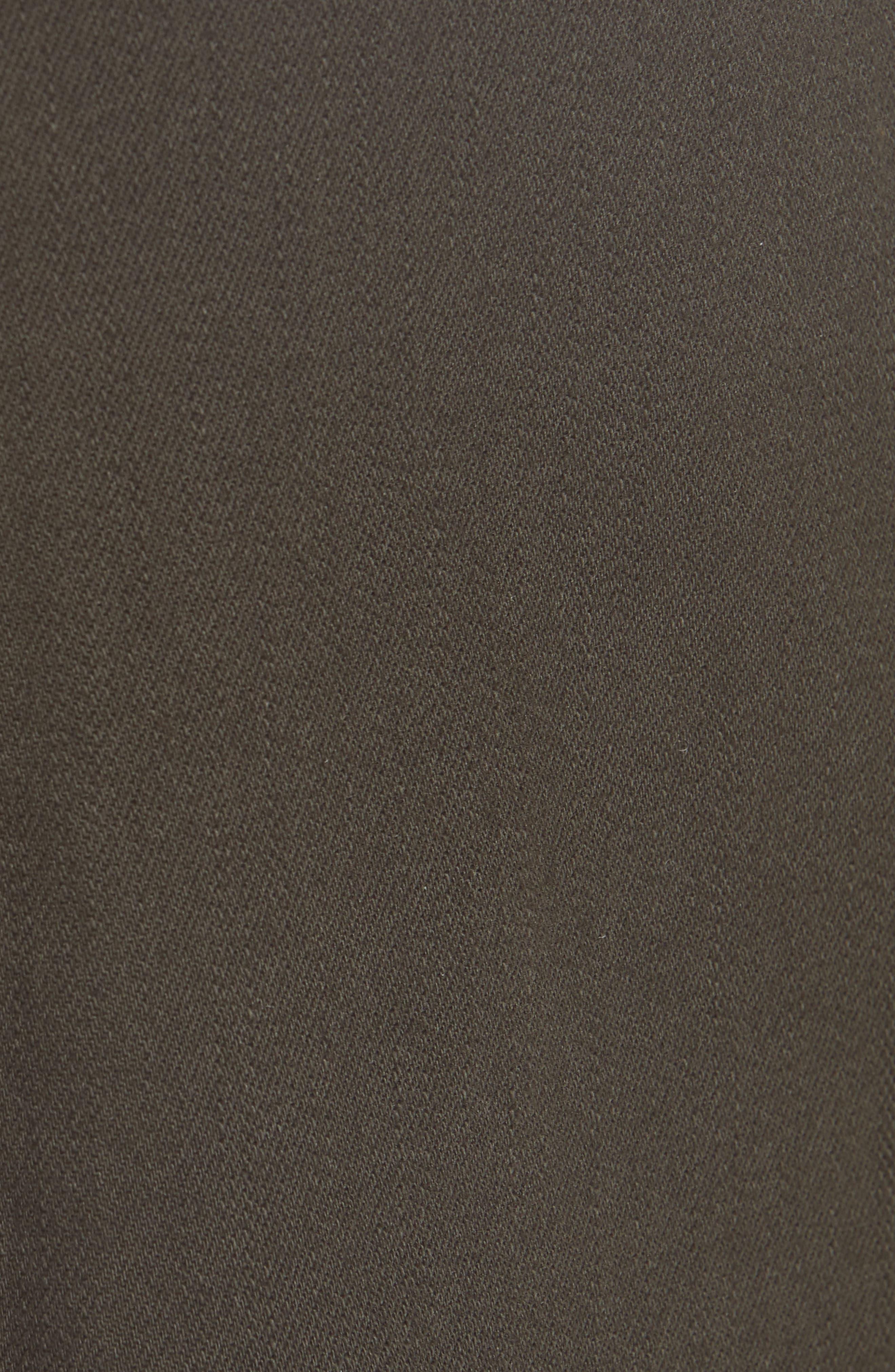 Carmine High Waist Wide Leg Crop Jeans,                             Alternate thumbnail 5, color,                             COMBAT