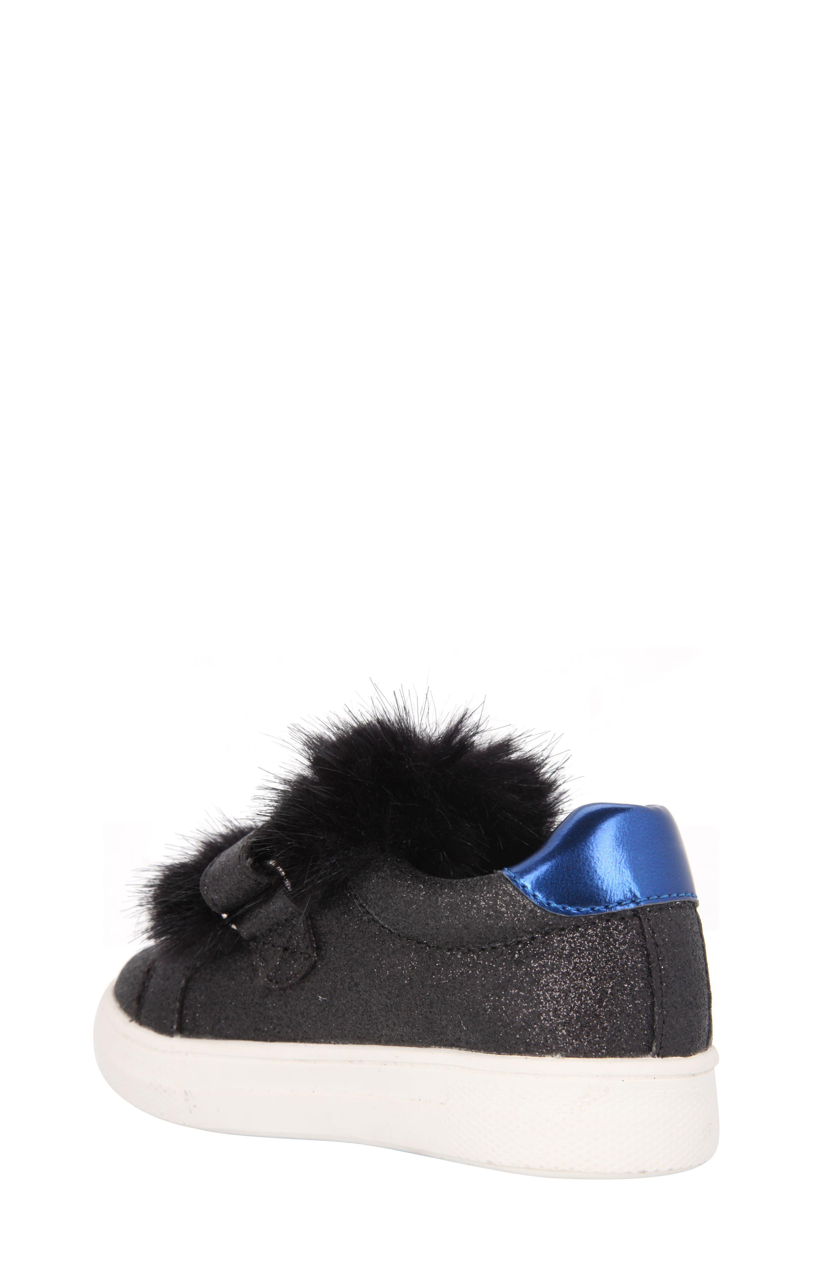 Sunshine Glittery Faux Fur Sneaker,                             Alternate thumbnail 2, color,                             008