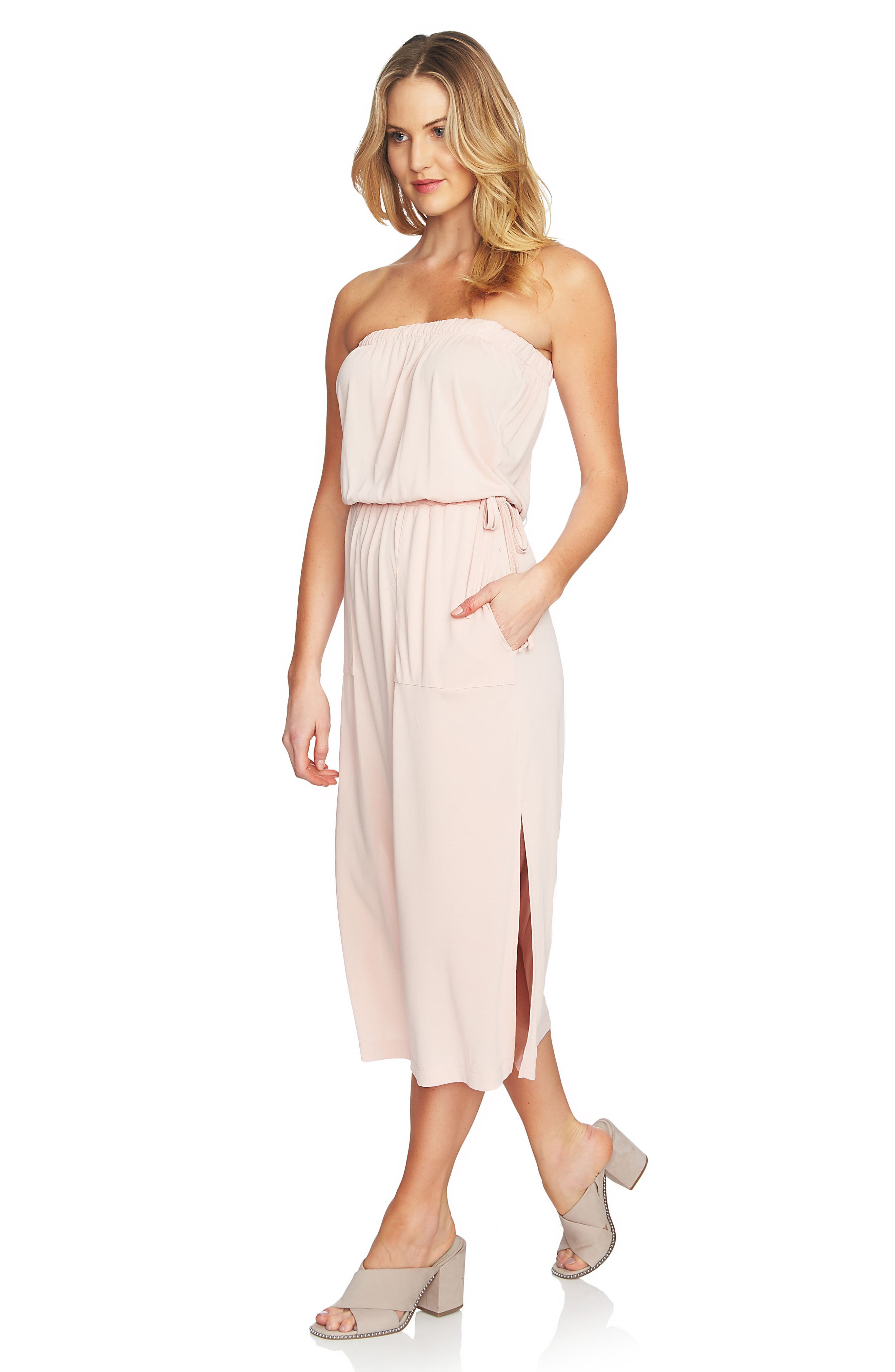 Strapless Maxi Dress,                             Alternate thumbnail 10, color,