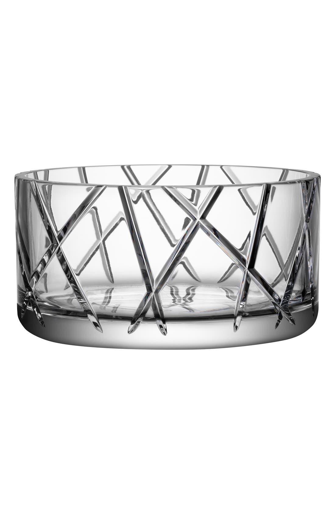 'Explicit Stripes' Lead Crystal Bowl,                         Main,                         color, 100